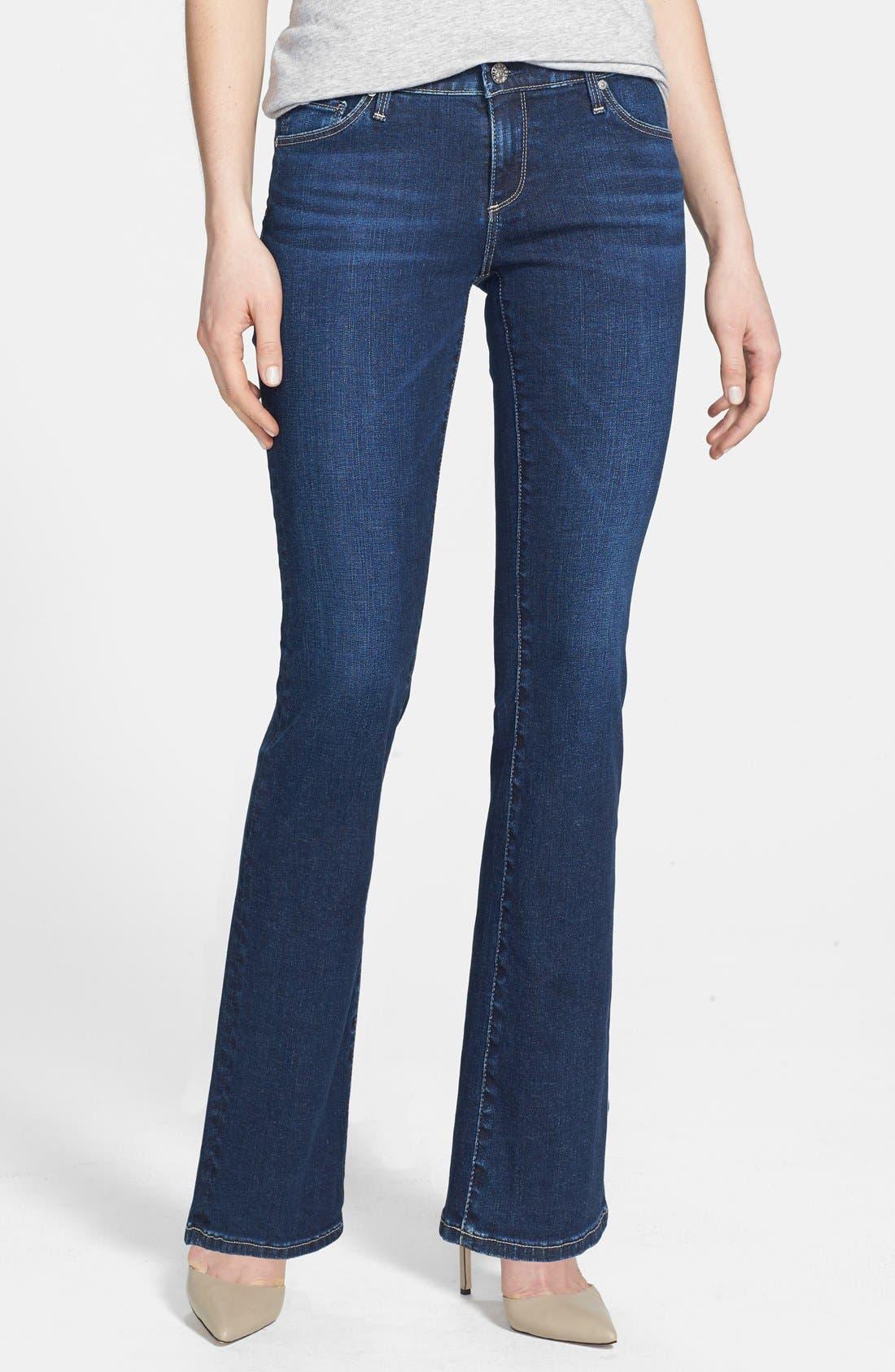 Main Image - AG 'Angelina' Bootcut Jeans (Petite) (Estate)