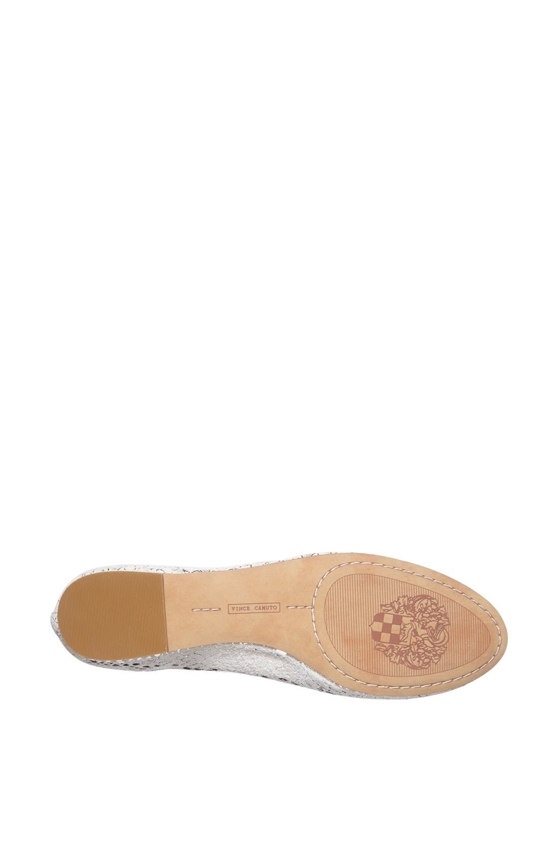 Alternate Image 4  - Vince Camuto 'Benningly' Snake Embossed Metallic Leather Ballet Flat