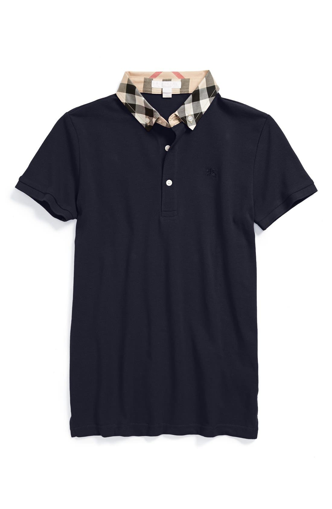 Main Image - Burberry William Cotton Polo (Little Boys & Big Boys)