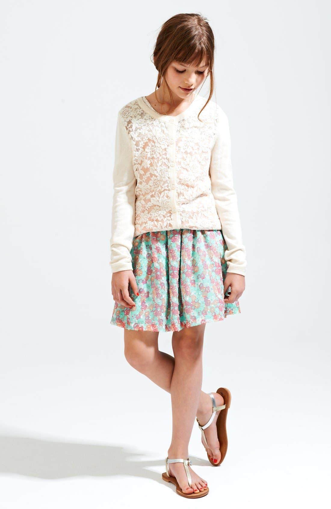 Alternate Image 2  - Ruby & Bloom 'Miranda' Georgette Skirt (Big Girls)