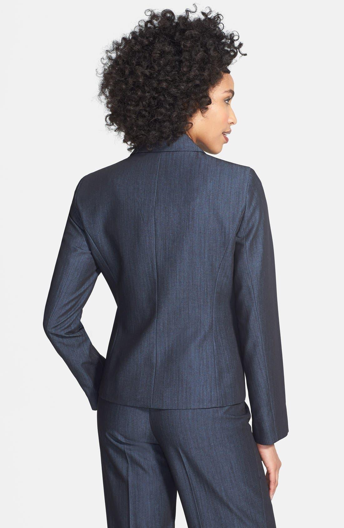 Alternate Image 2  - Jones New York Two-Button Stretch Denim Jacket