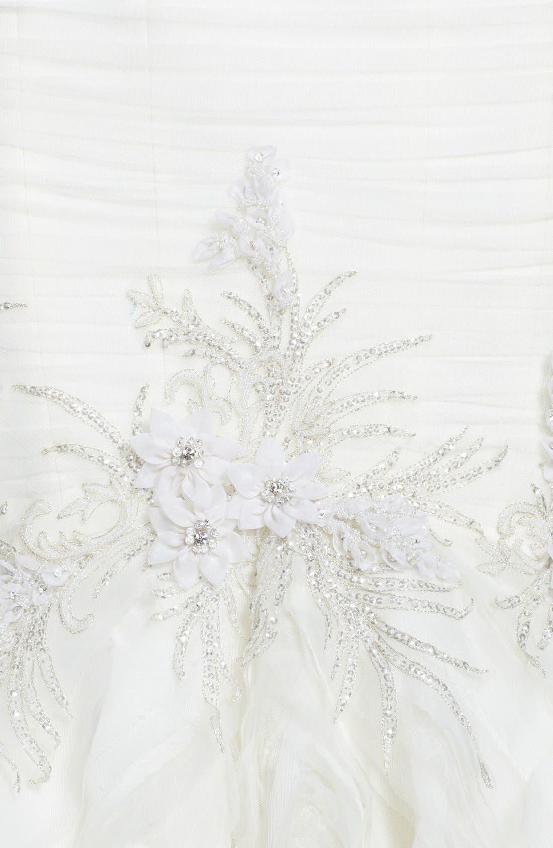 Alternate Image 3  - Badgley Mischka Bridal 'Bridgette' Embellished Tulle Mermaid Dress (In Stores Only)