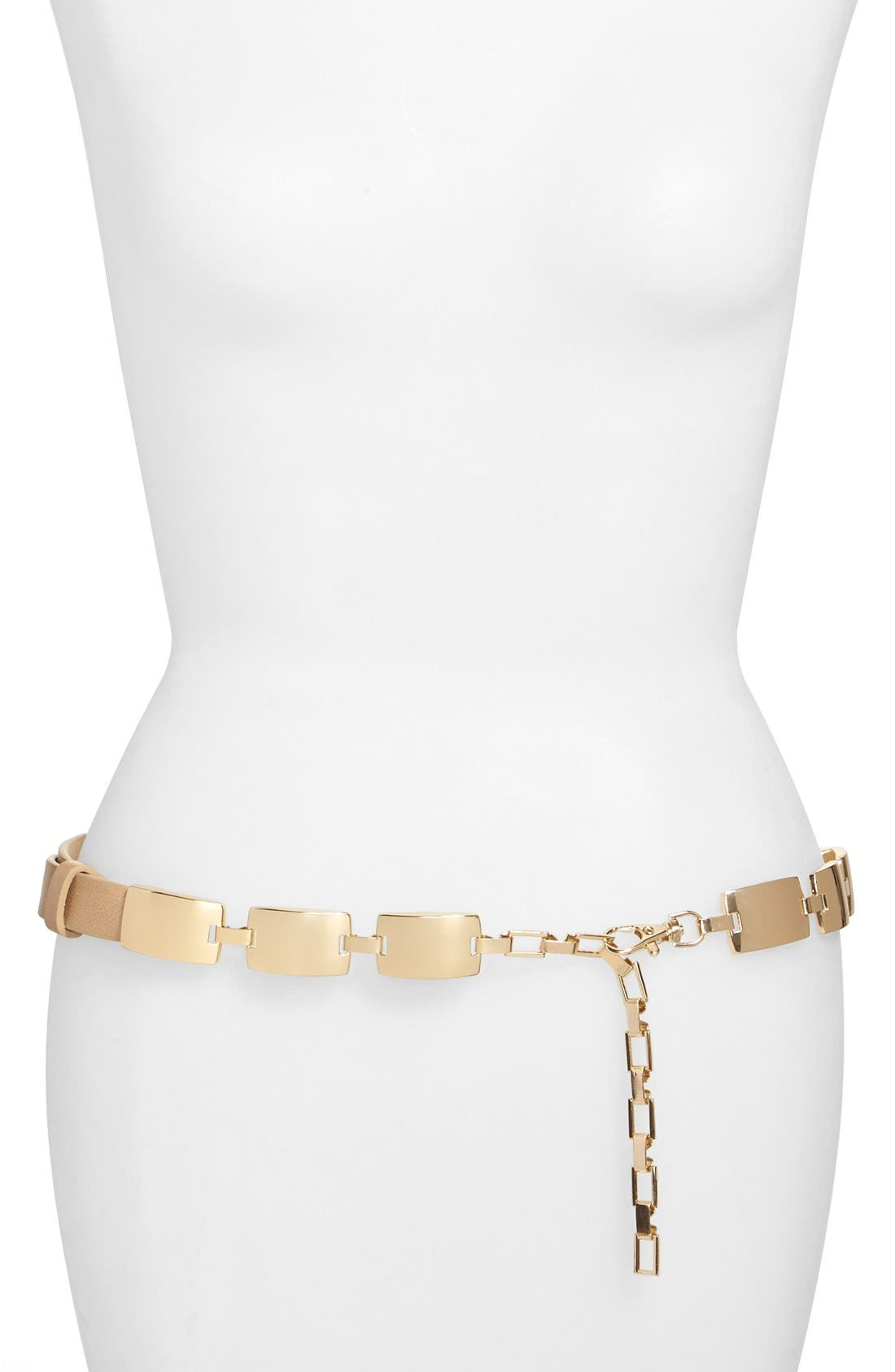 Alternate Image 1 Selected - Steven by Steve Madden Square Plaque Chain Belt