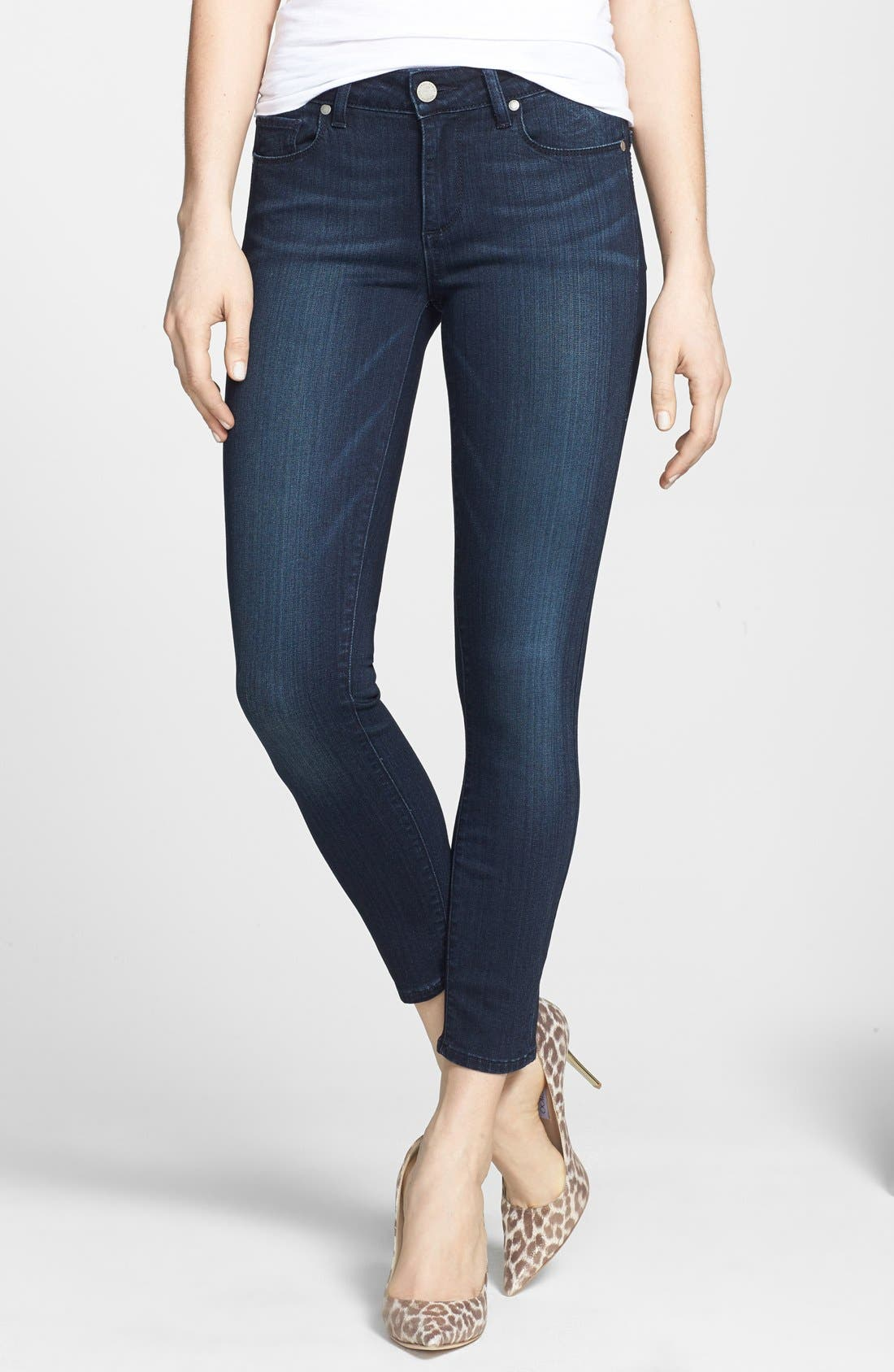Main Image - PAIGE Transcend - Verdugo Crop Skinny Jeans (Midlake)