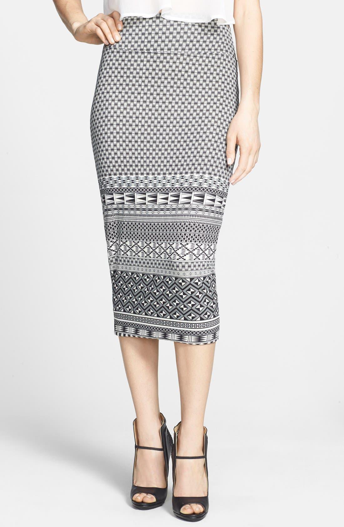 Main Image - Leith High Rise Midi Tube Skirt