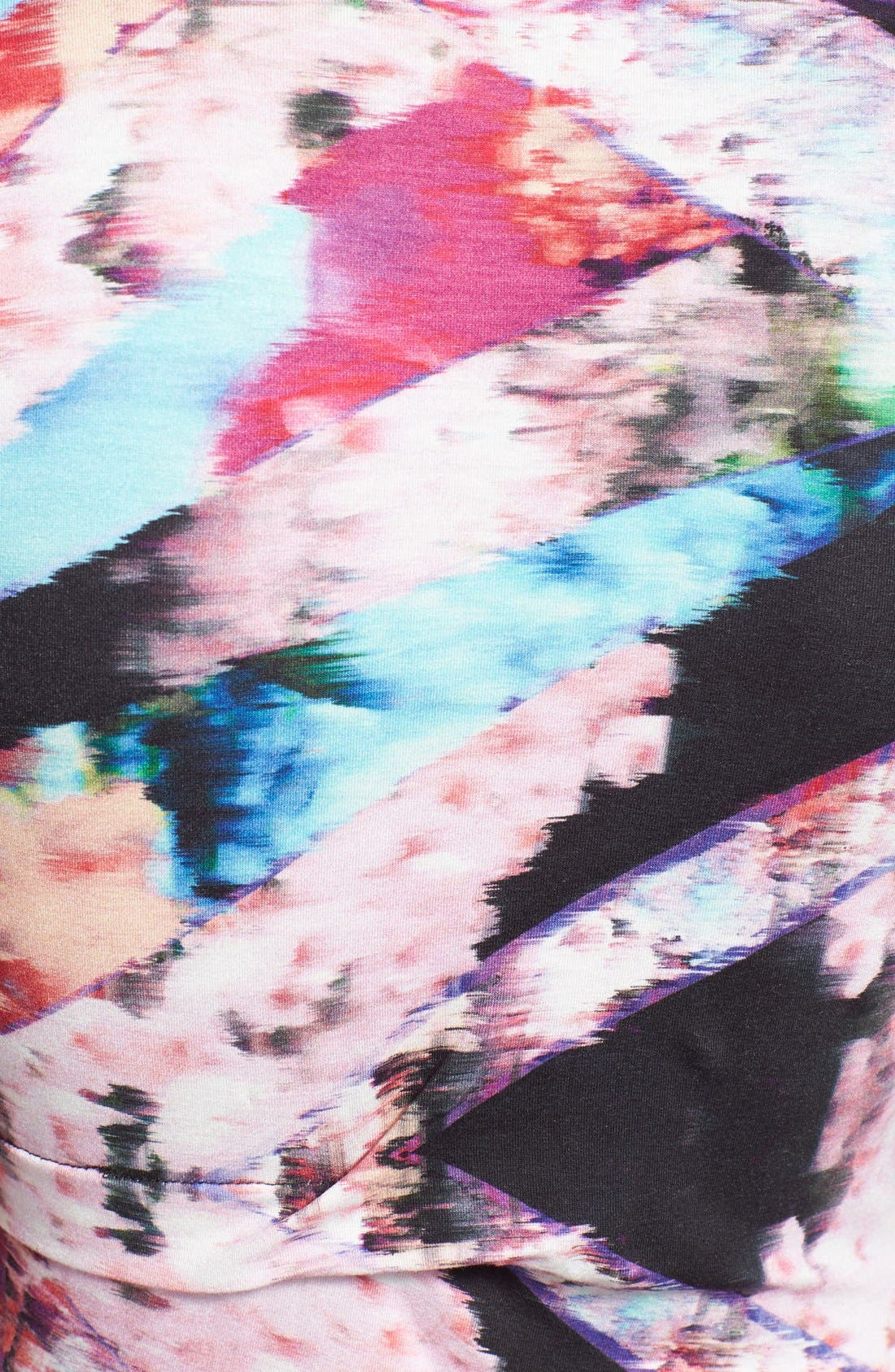 Alternate Image 3  - Nicole Miller Tidal Pleat Print Jersey Pencil Dress