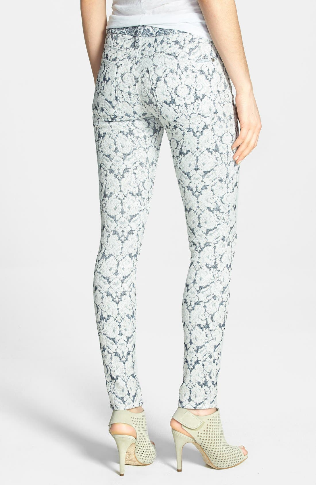 Alternate Image 2  - 7 For All Mankind® Jacquard Skinny Pants