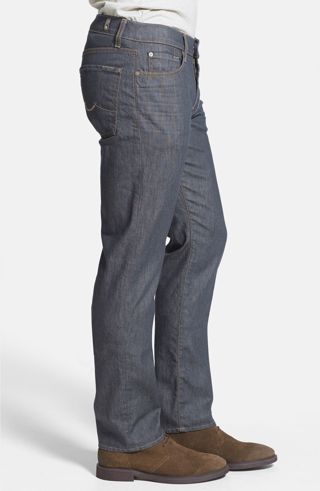 Alternate Image 3  - 7 For All Mankind® 'Slimmy' Slim Straight Leg Jeans (Summer Haze)