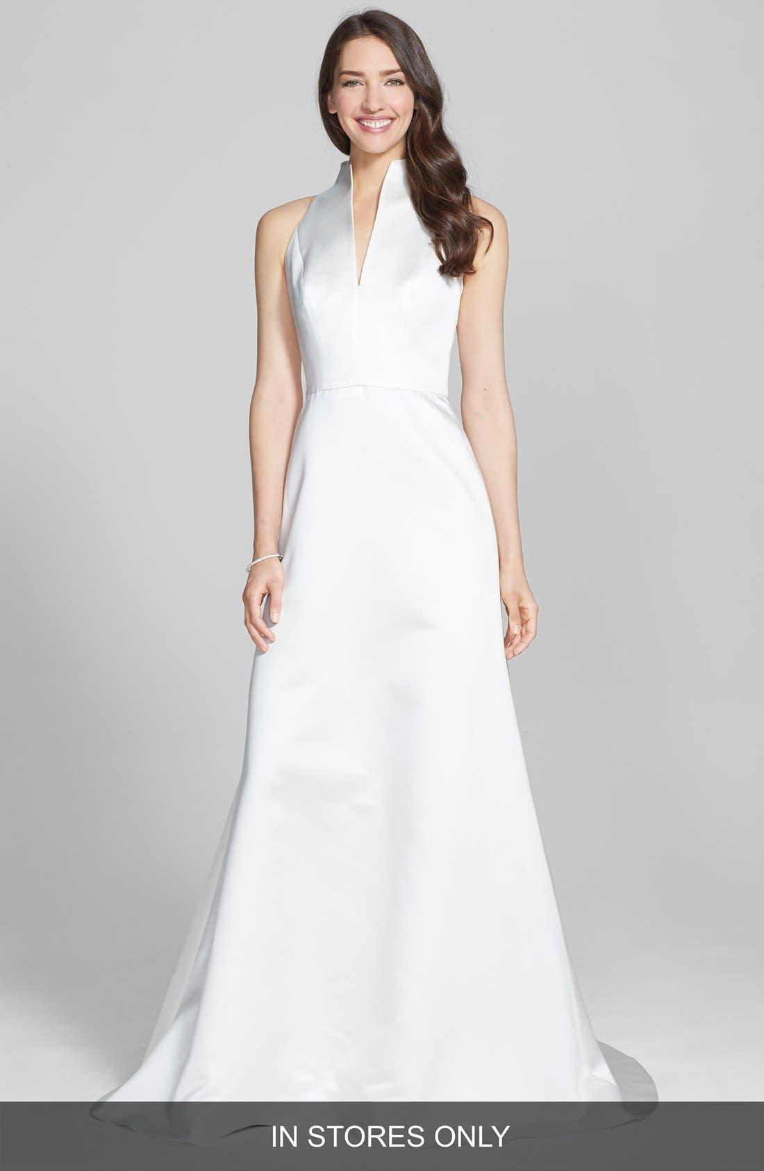 Alternate Image 4  - Jesús Peiró Satin Dress with Embellished Waist Overskirt