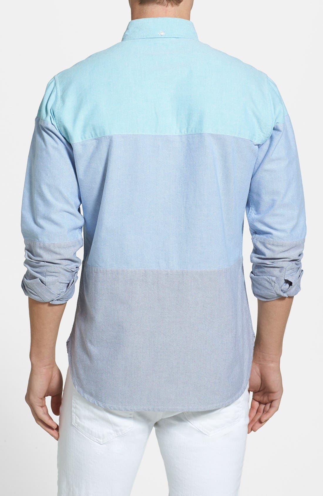 Alternate Image 2  - Bonobos Slim Fit Colorblock Oxford Sport Shirt