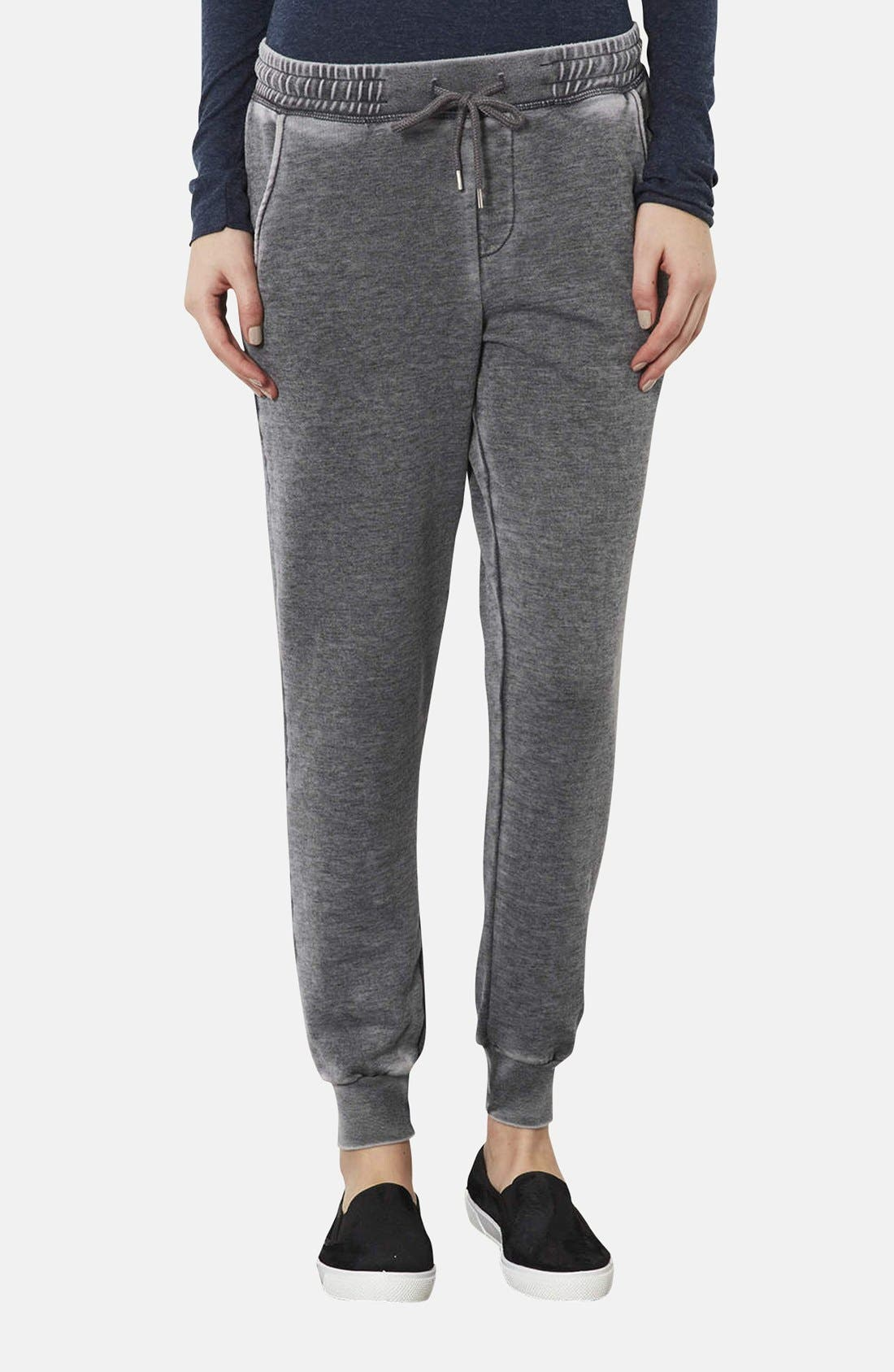 Main Image - Topshop Faded Cotton Blend Track Pants