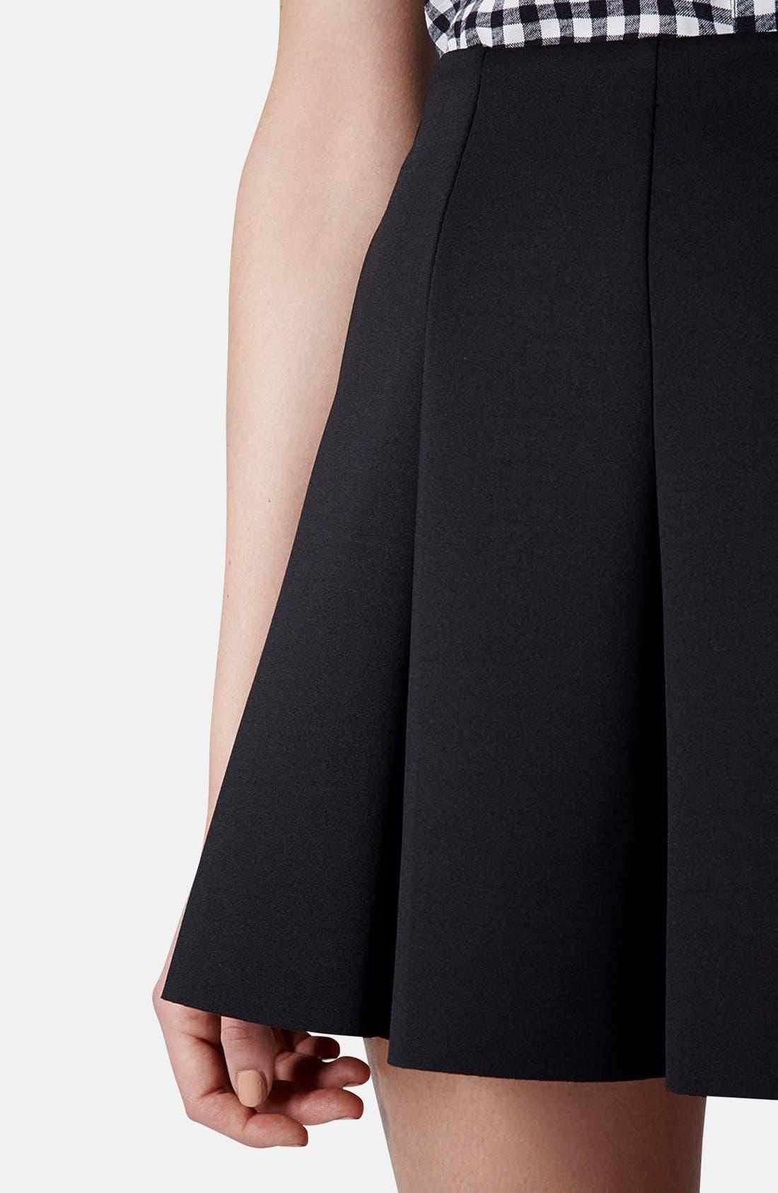 Alternate Image 4  - Topshop Pleat Scuba Skirt (Petite)