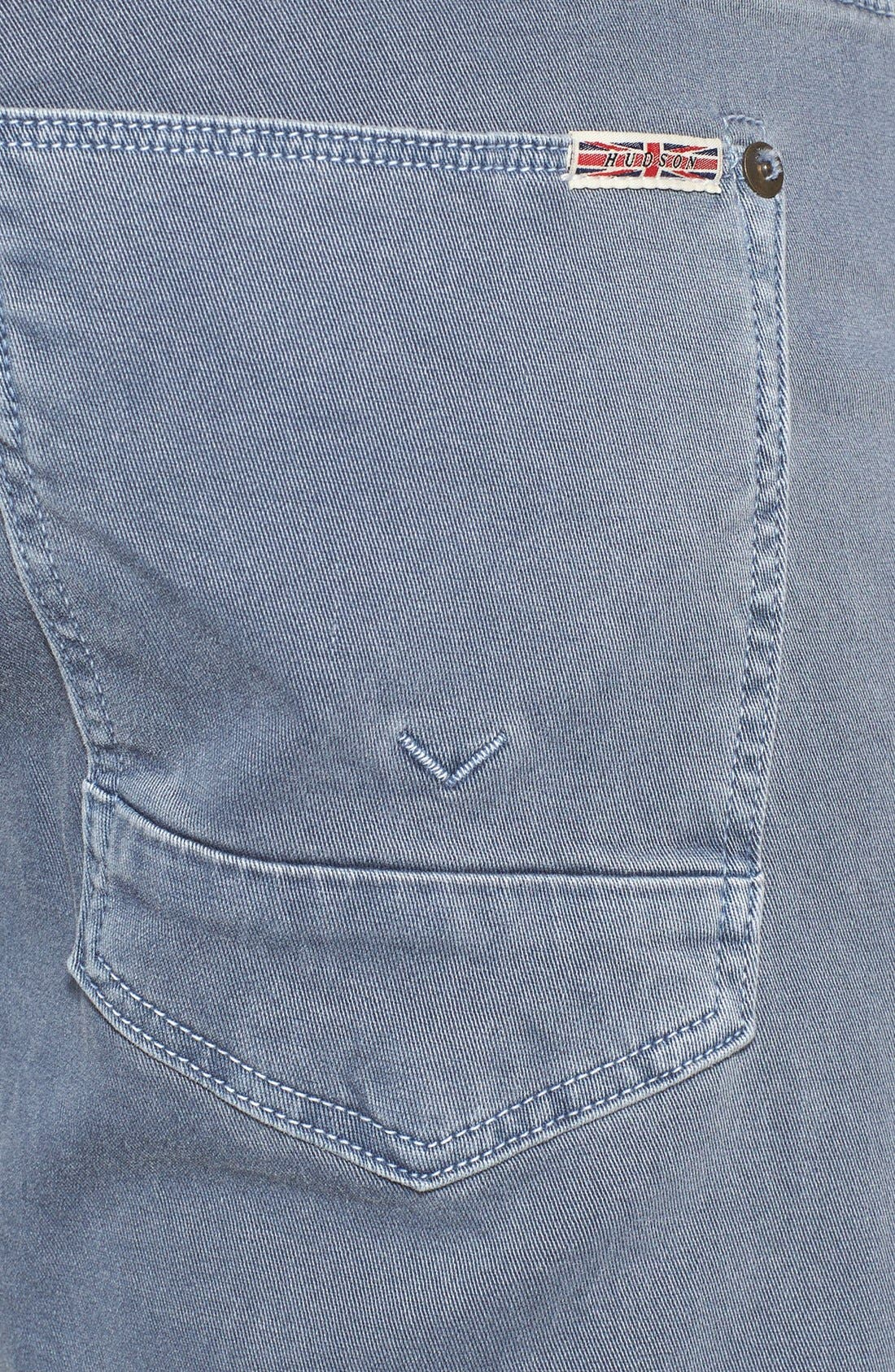 Alternate Image 3  - Hudson Jeans 'Byron' Straight Leg Jeans (Sunfaded Petrol)