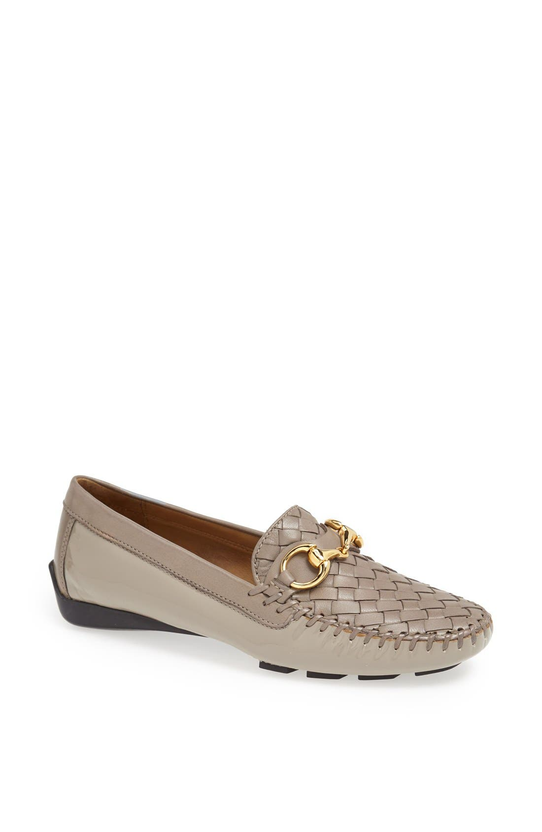 'Perlata' Loafer,                             Main thumbnail 1, color,                             Taupe Patent