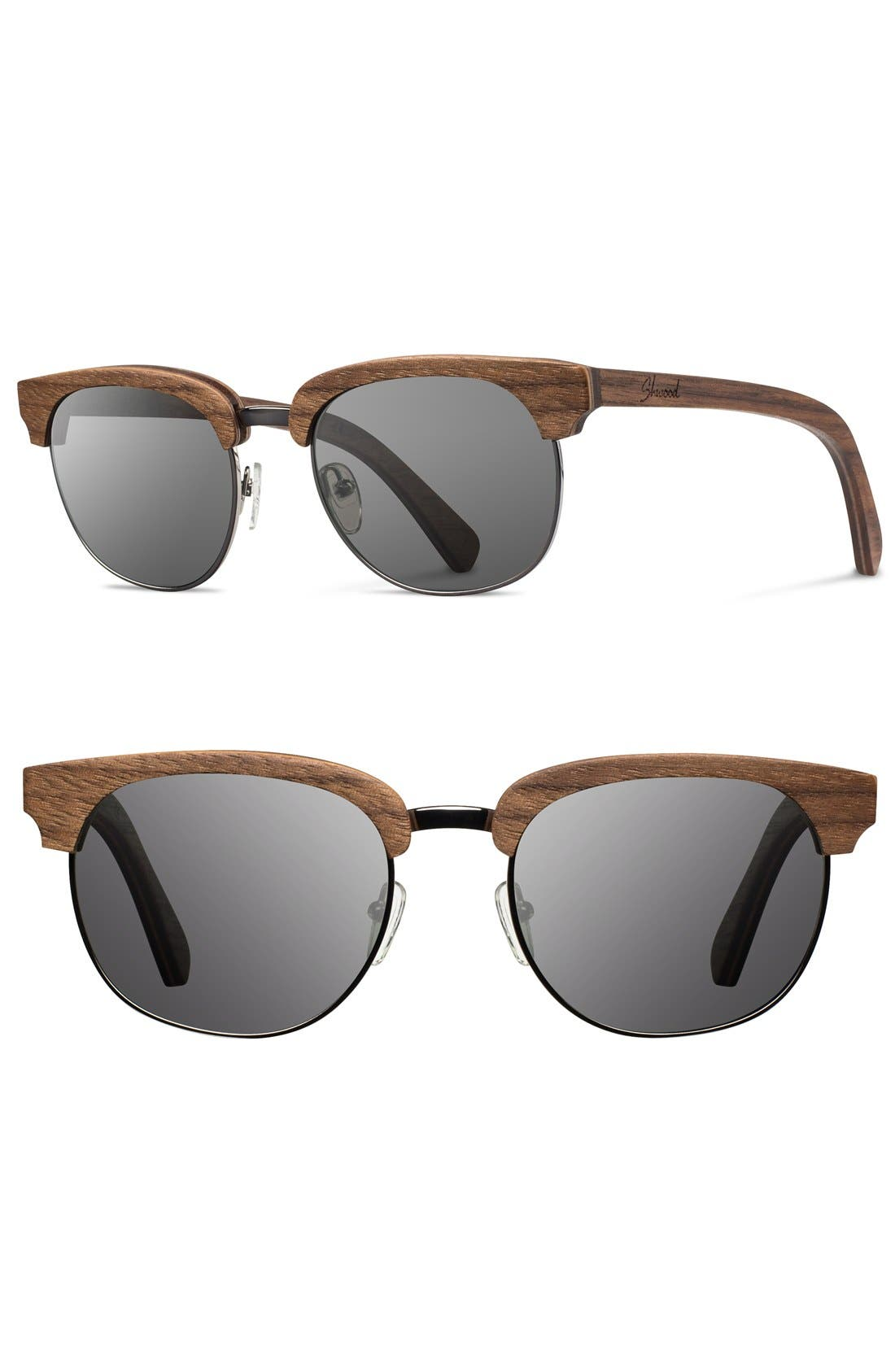 Alternate Image 1 Selected - Shwood 'Eugene' 54mm Wood Sunglasses