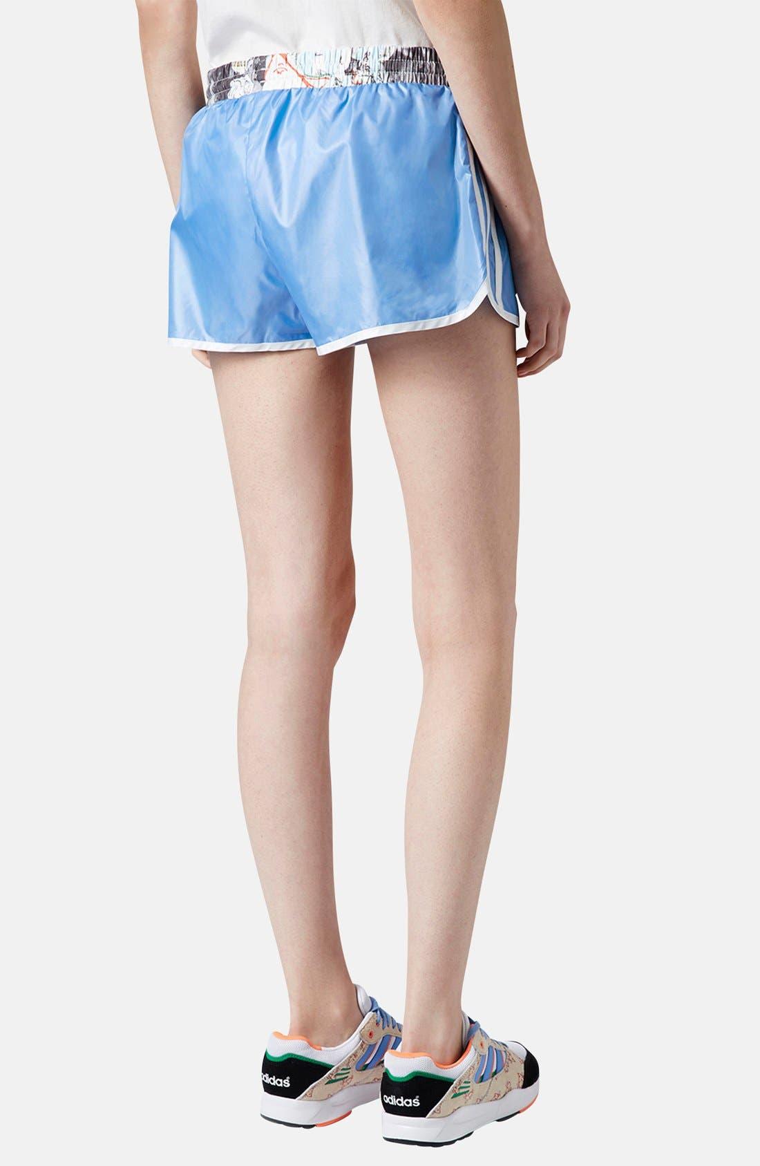 Alternate Image 2  - Topshop x adidas Originals Blue Shorts