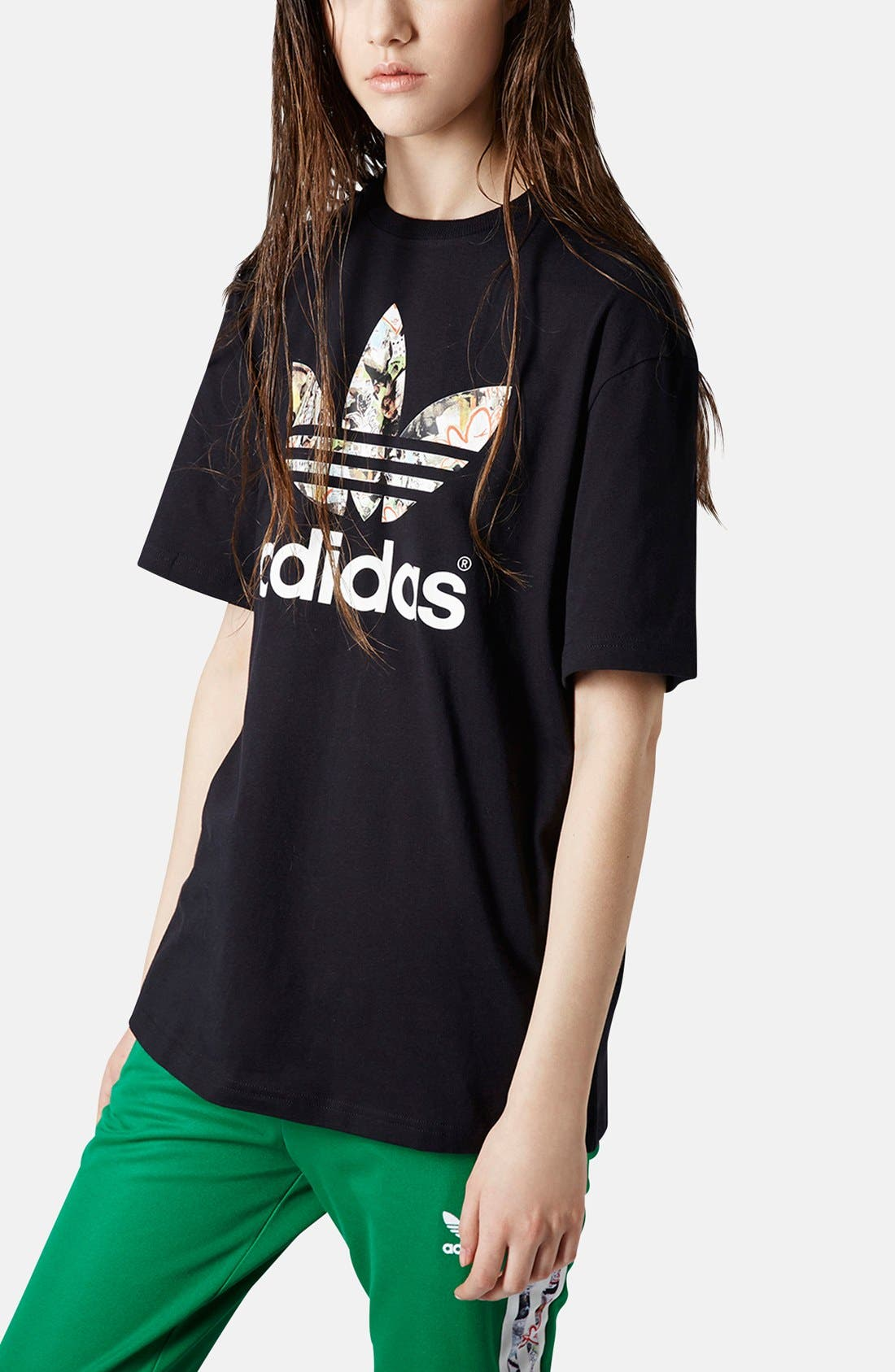 Alternate Image 1 Selected - Topshop x adidas Originals Trefoil Tee