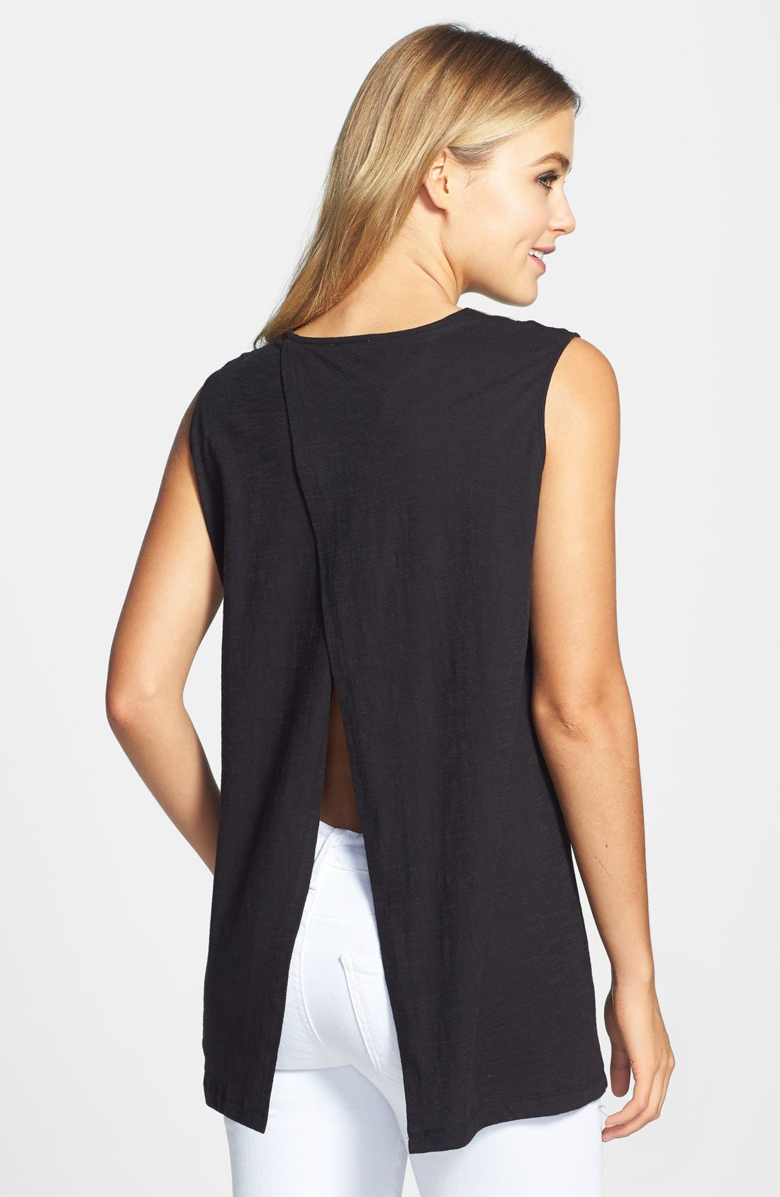 Alternate Image 2  - Vince Camuto Embellished Neck Sleeveless Top