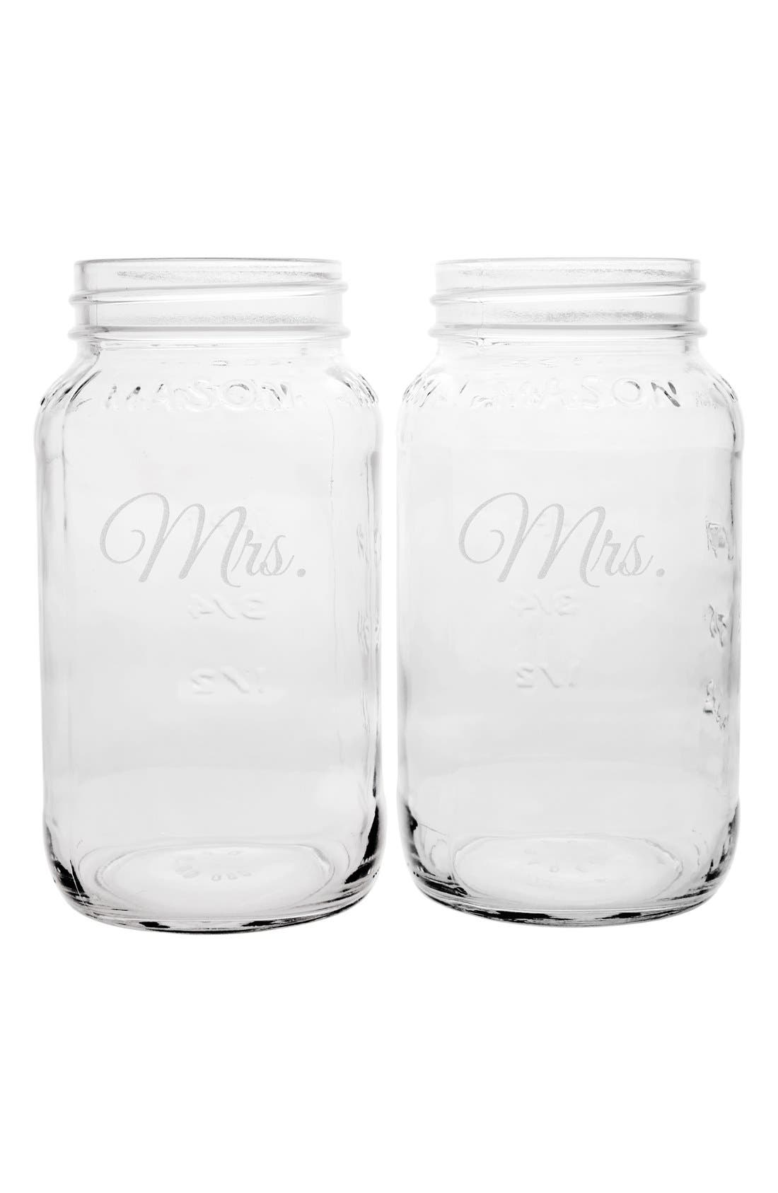 Alternate Image 2  - Cathy's Concepts 'For the Couple' Mason Jar Mugs (Set of 2)