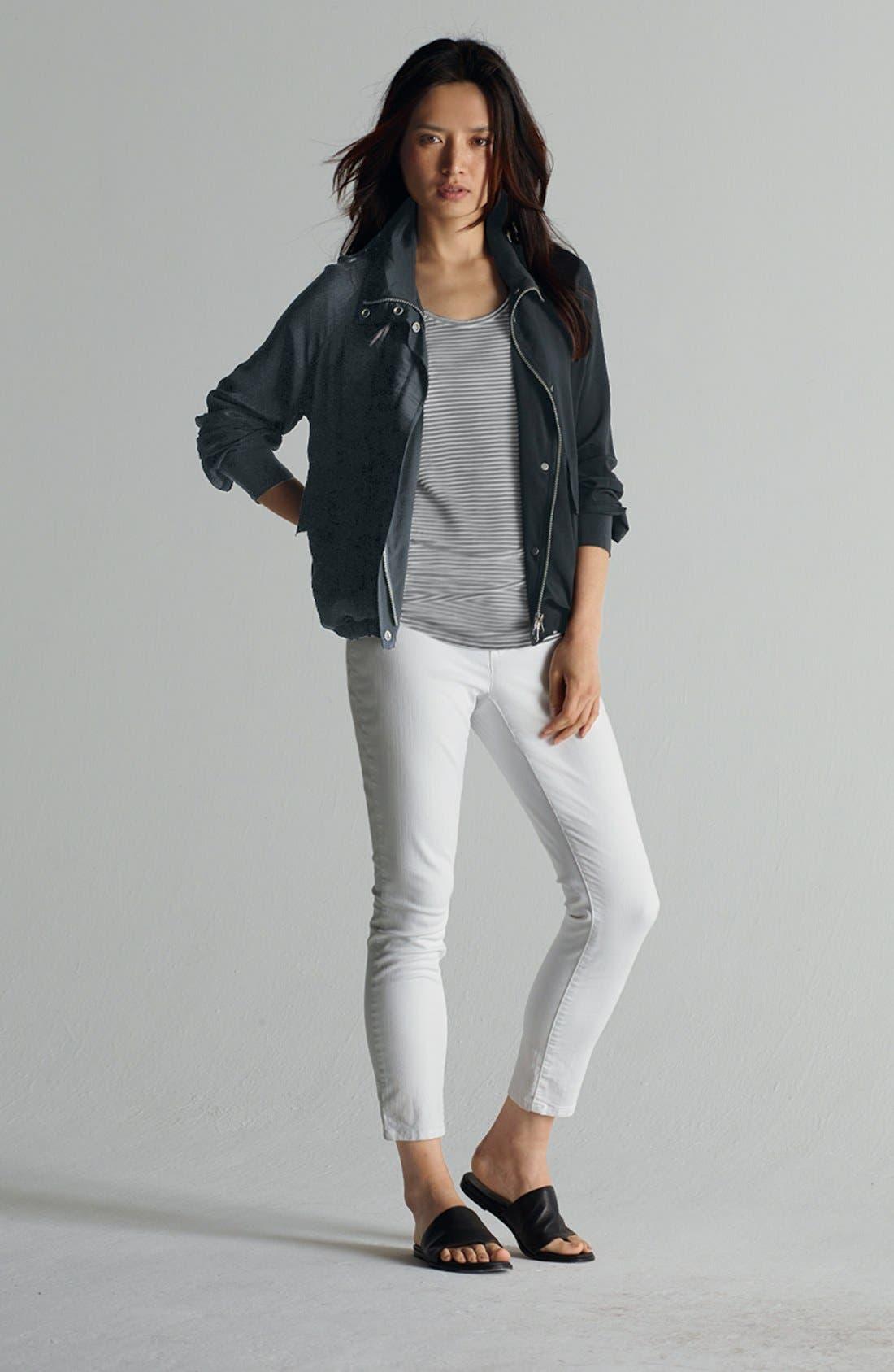 Alternate Image 1 Selected - Eileen Fisher Jacket, Tank & Skinny Jeans