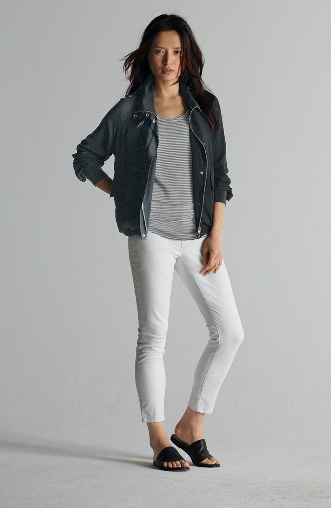 Main Image - Eileen Fisher Jacket, Tank & Skinny Jeans