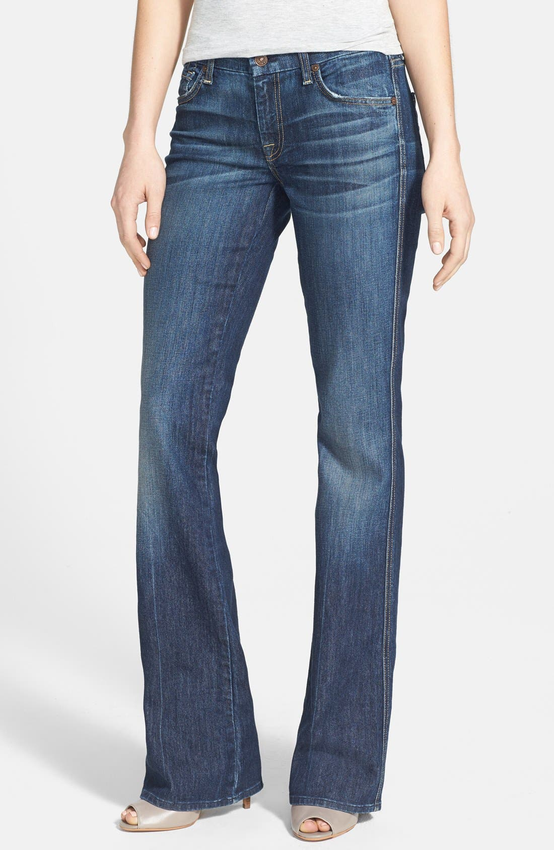 Alternate Image 1  - 7 For All Mankind® Flare Jeans (Nouveau New York)