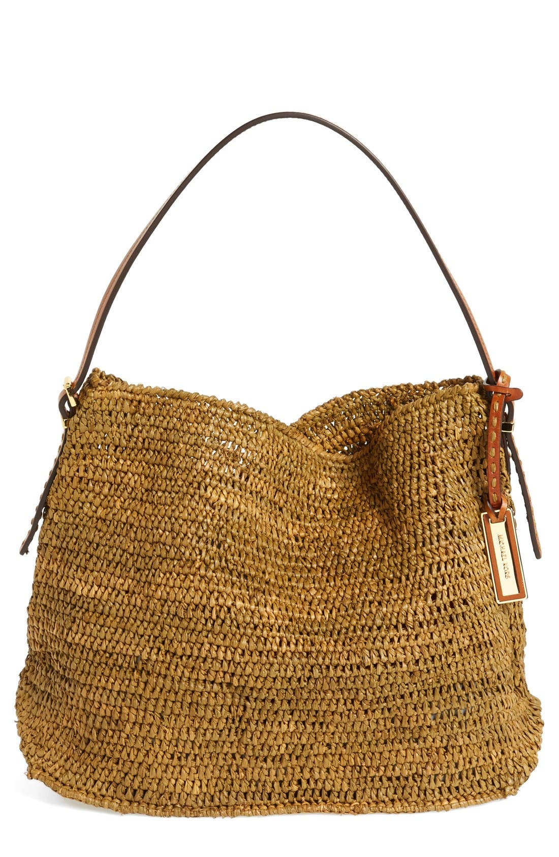 Alternate Image 1 Selected - Michael Kors 'Santorini' Raffia Hobo