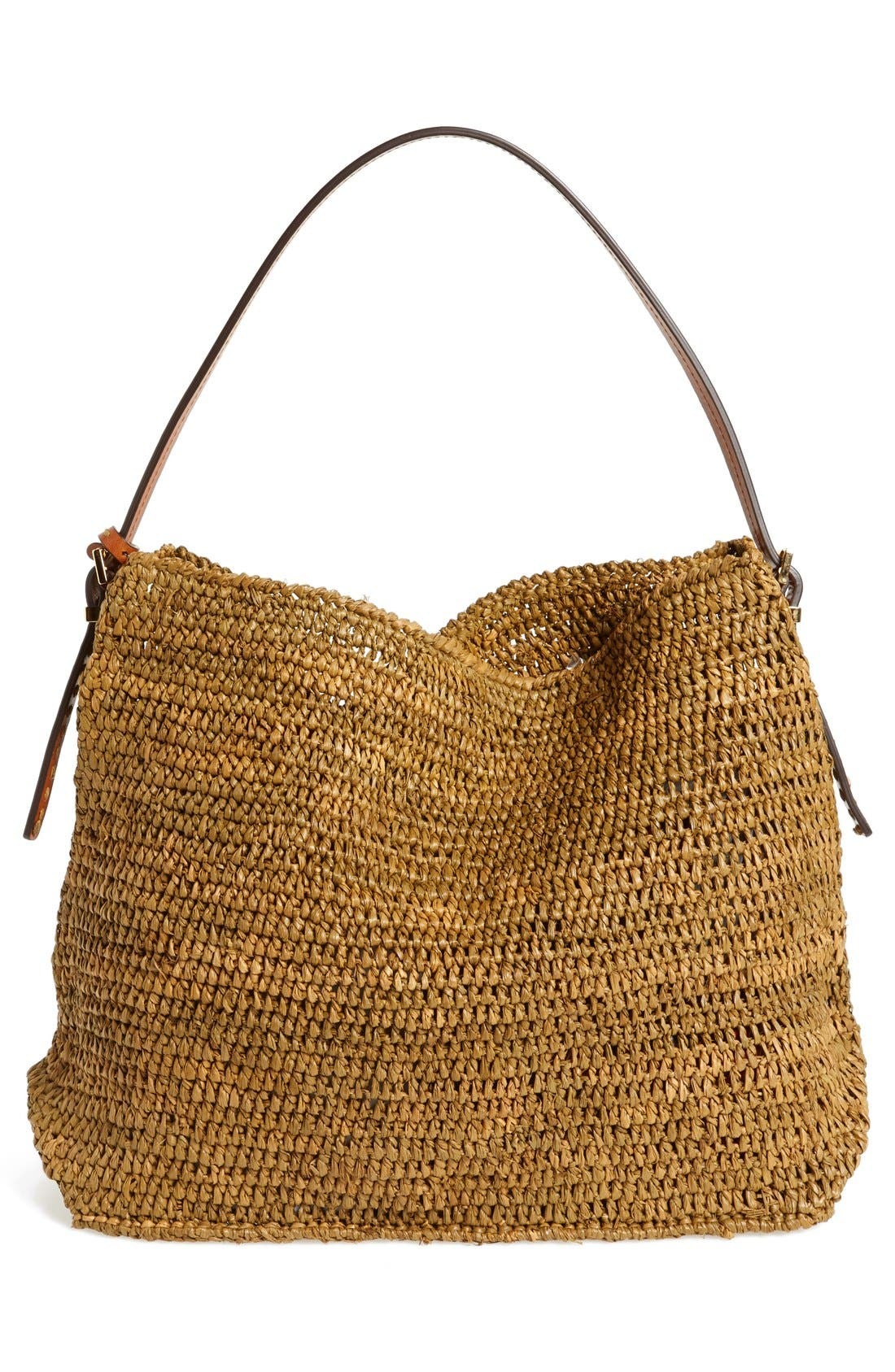 Alternate Image 4  - Michael Kors 'Santorini' Raffia Hobo
