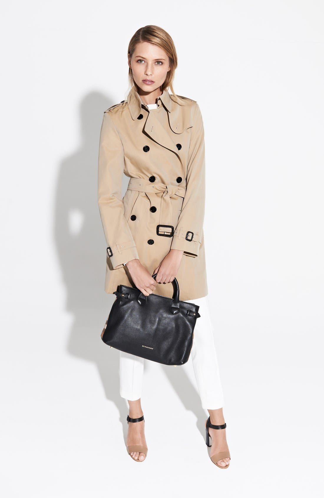 'Buckingham' Double Breasted Cotton Trench,                             Alternate thumbnail 5, color,