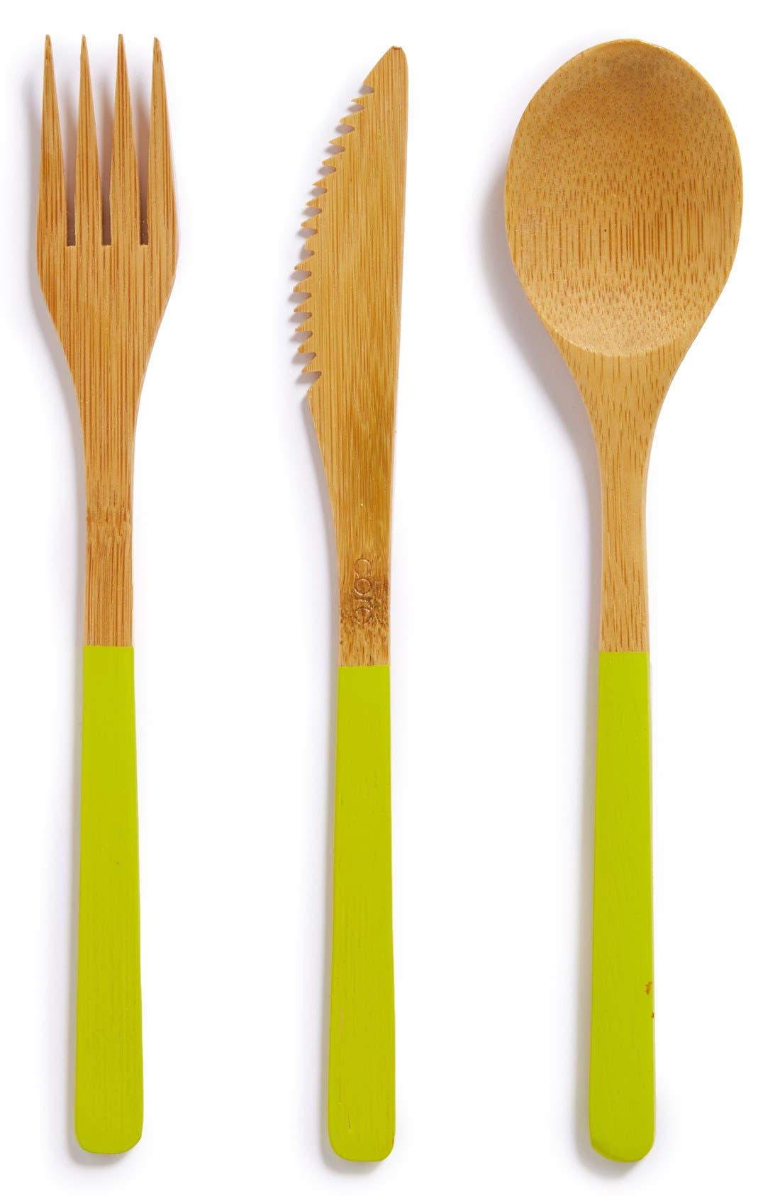 Alternate Image 1 Selected - Core Home 3-Piece Organic Bamboo Cutlery Set