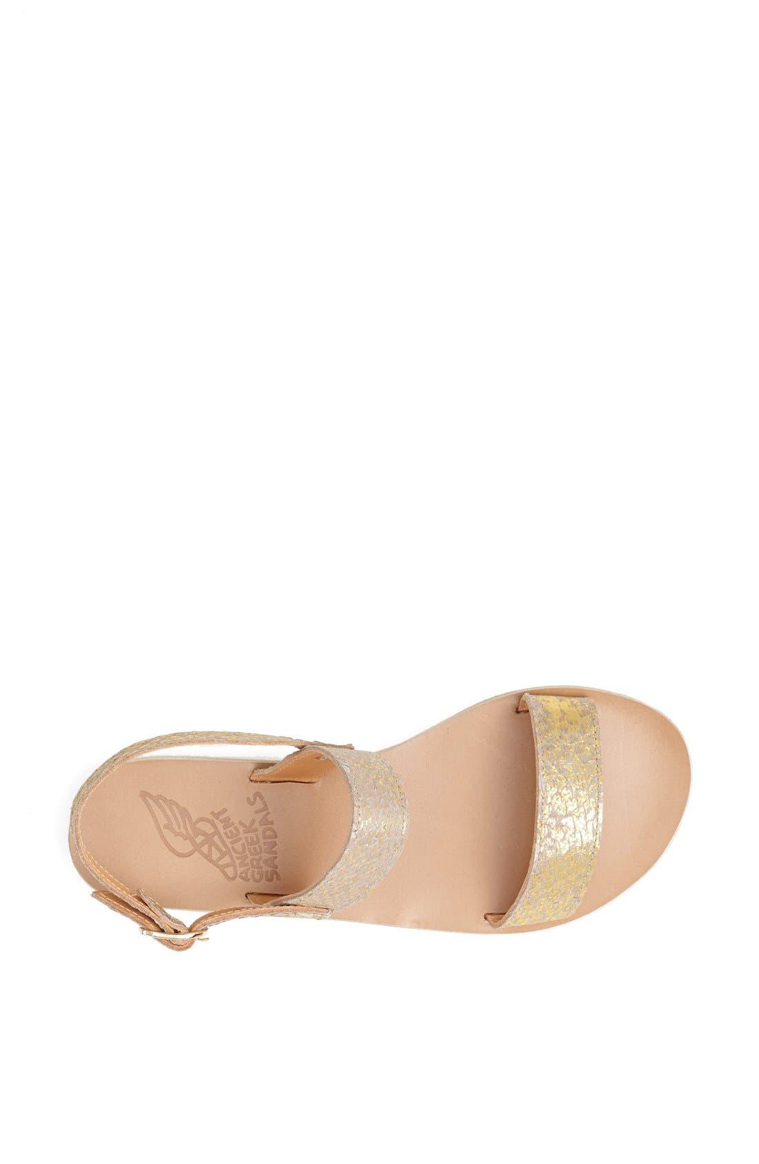 Alternate Image 3  - Ancient Greek Sandals 'Clio' Metallic Salmon Skin Sandal