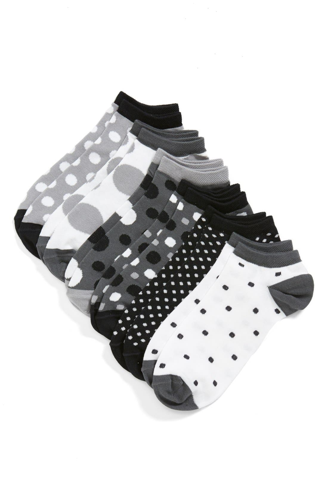 Alternate Image 1 Selected - Tucker + Tate 'Dotty Dots' Low-Cut Socks (6-Pack) (Toddler, Little Kid & Big Kid)
