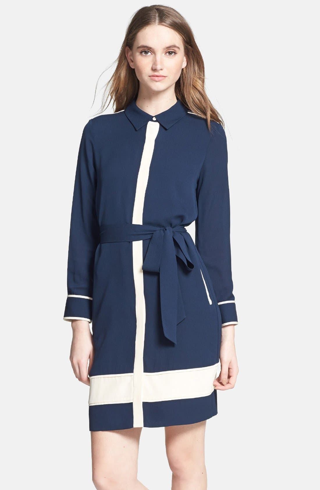 Alternate Image 1 Selected - Diane von Furstenberg 'Cadence' Silk Shirtdress