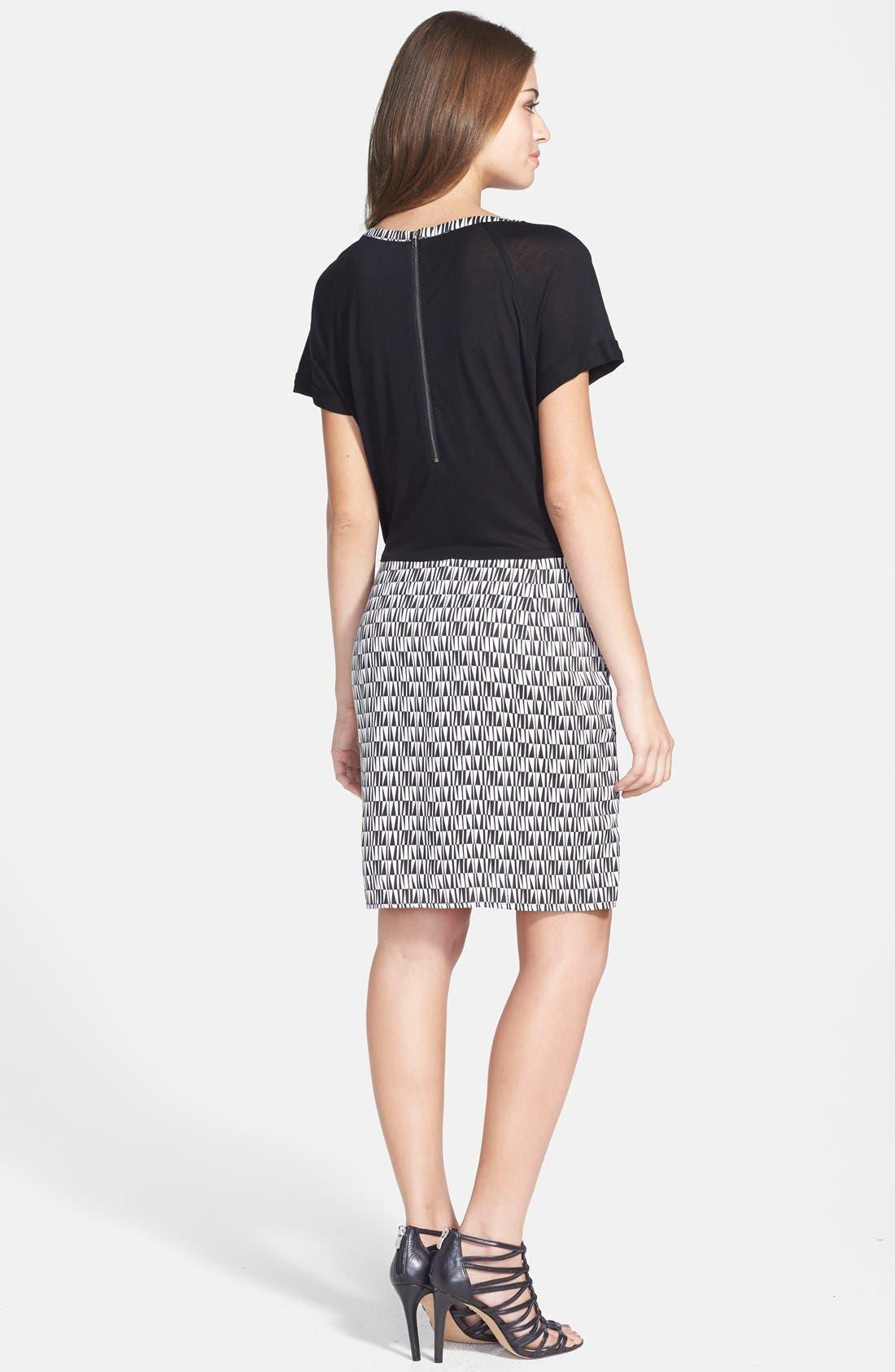 Alternate Image 2  - Halogen® Tie Front Colorblock Dress