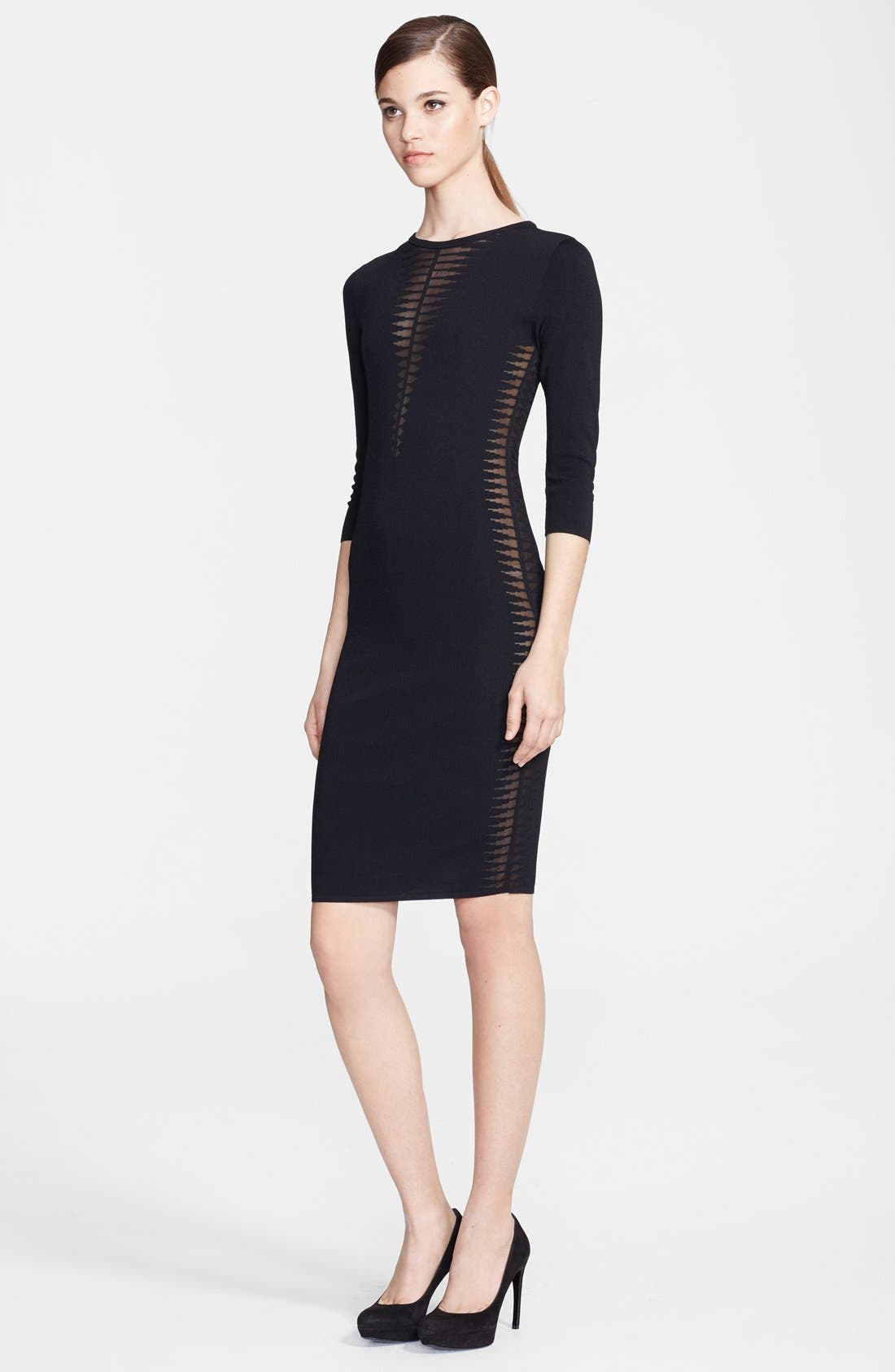 Alternate Image 1 Selected - Alexander McQueen Spine Knit Dress