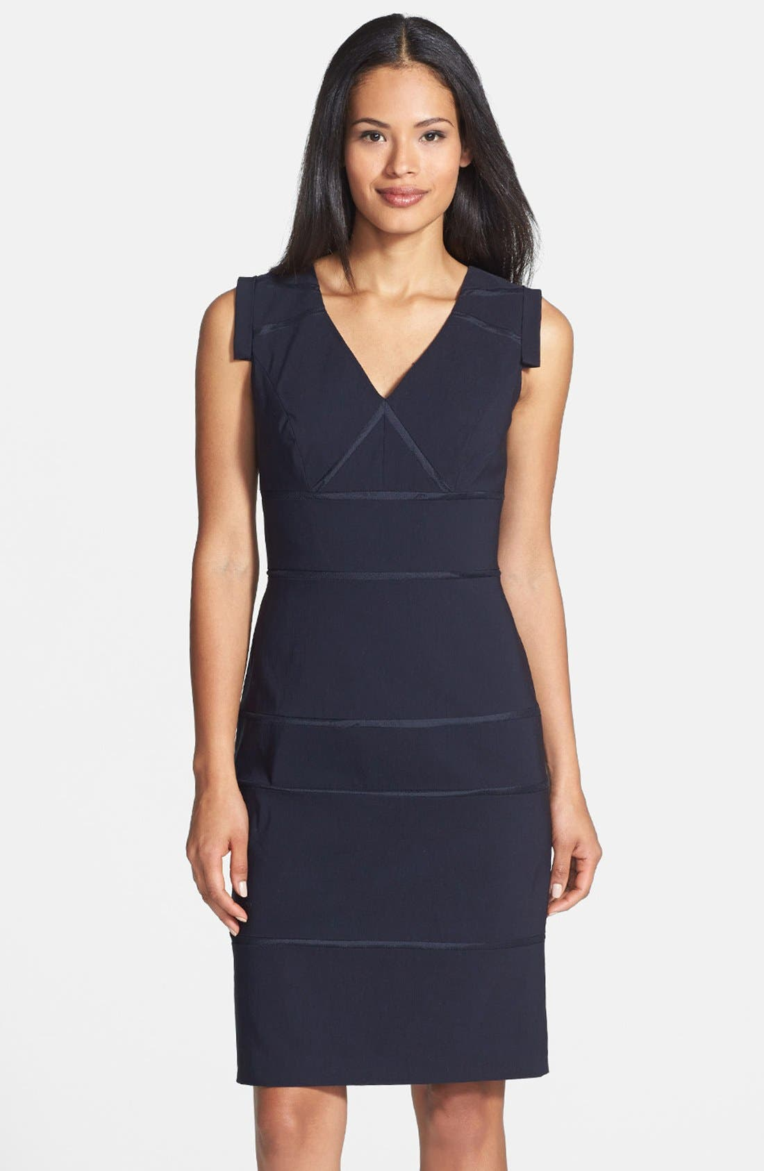 Alternate Image 1 Selected - Adrianna Papell Faille Sheath Dress (Regular & Petite)