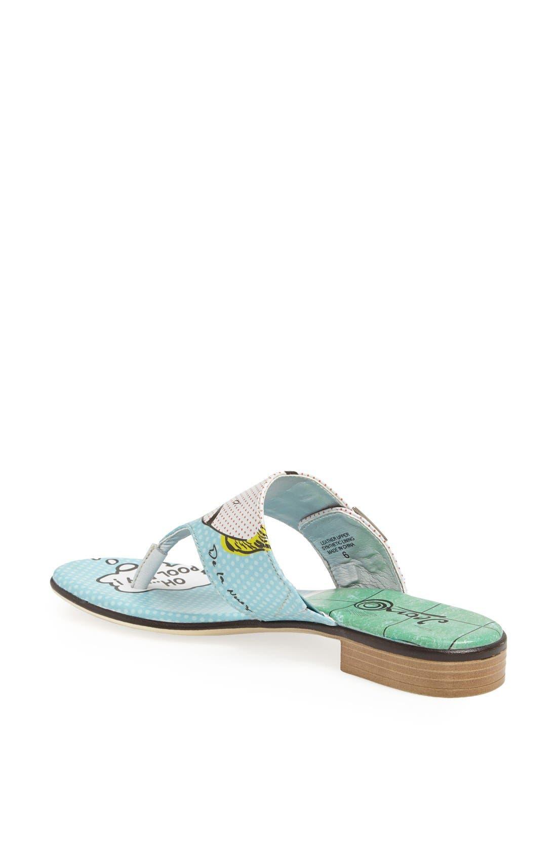 Alternate Image 2  - Icon Footwear Flat Thong Sandal