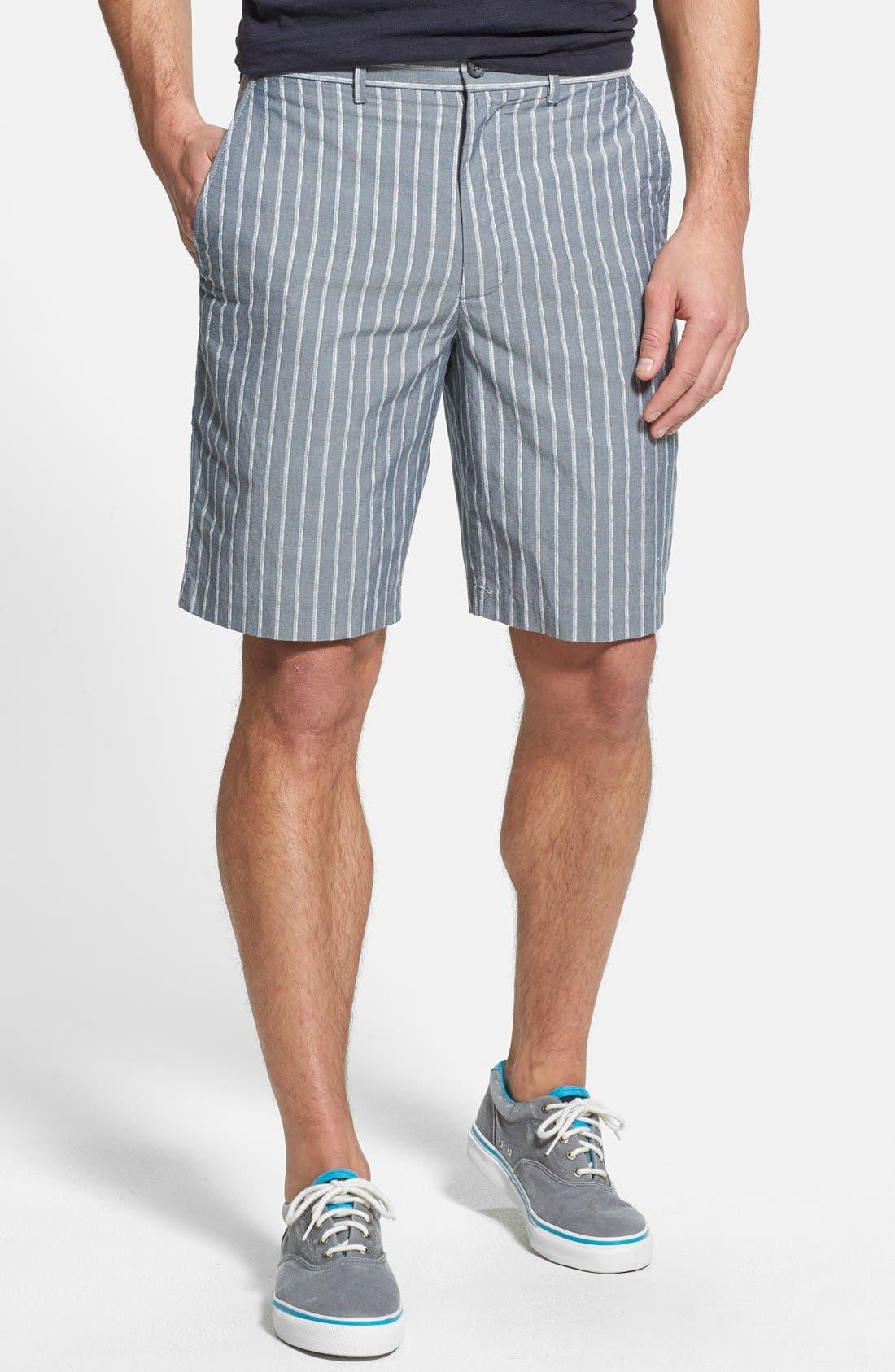 Main Image - John W. Nordstrom® Flat Front Dobby Shorts
