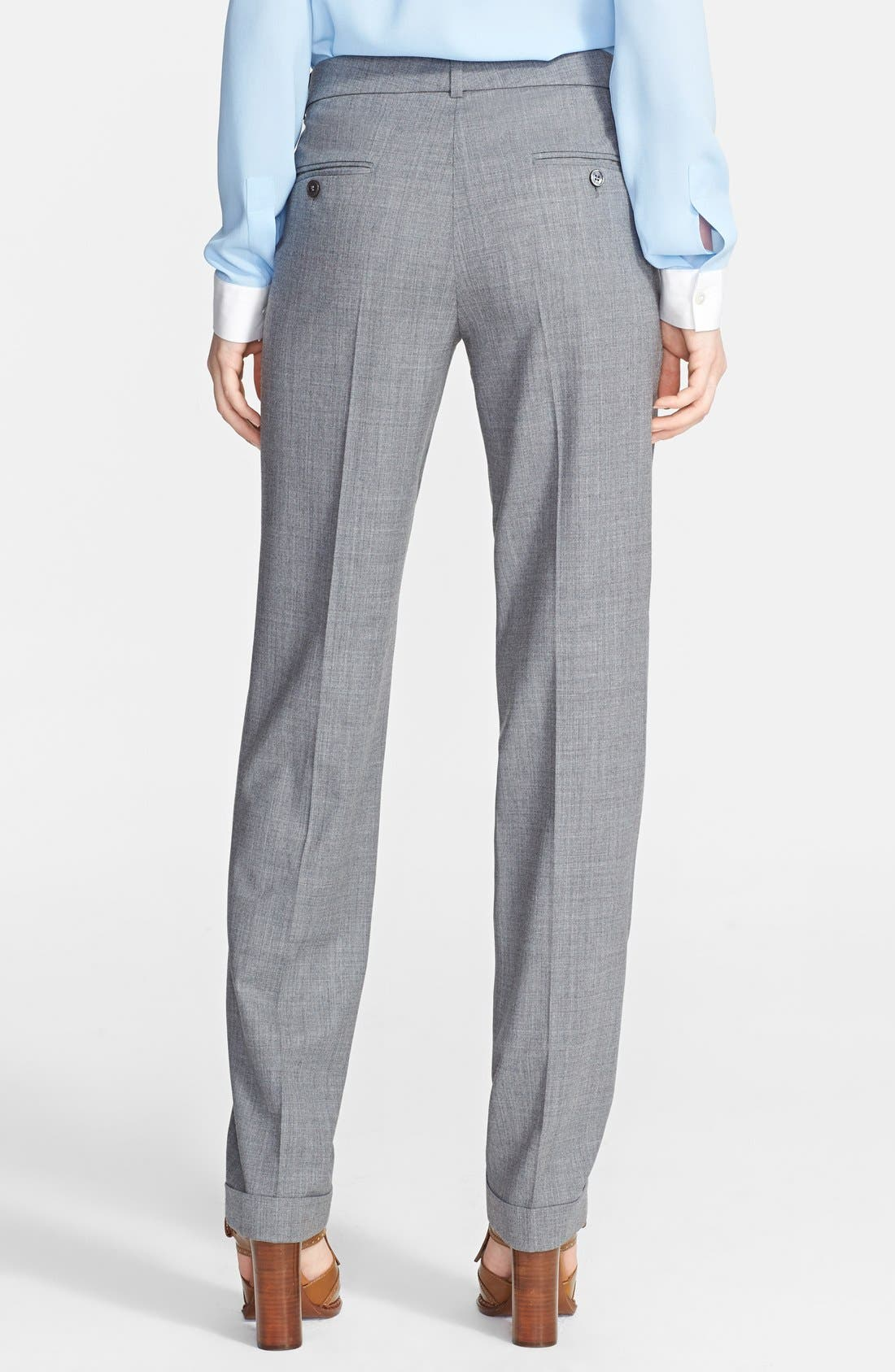 Alternate Image 2  - Michael Kors Pleated Stretch Wool Trousers