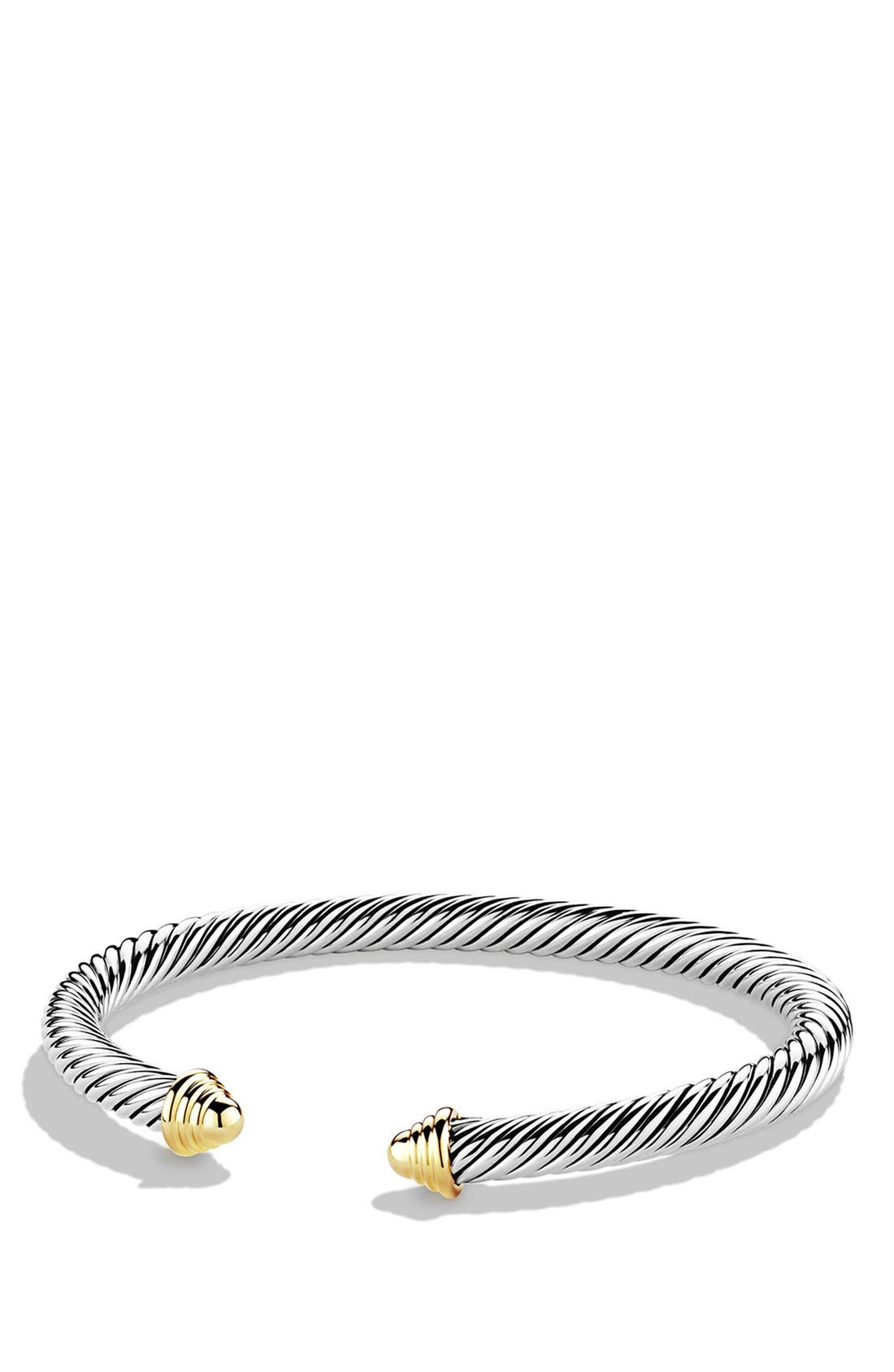 Cable Classics Bracelet with 14K Gold, 5mm,                         Main,                         color, Two Tone