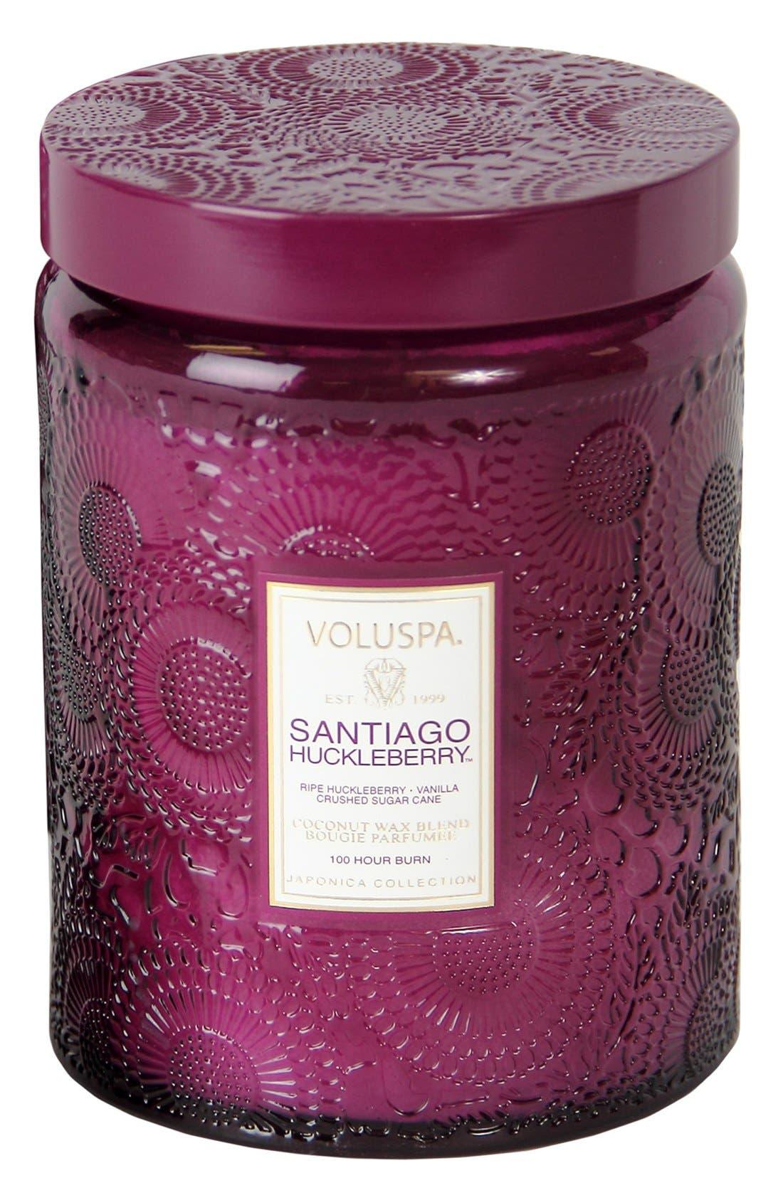 Alternate Image 1 Selected - Voluspa 'Japonica - Santiago Huckleberry' Large Embossed Jar Candle