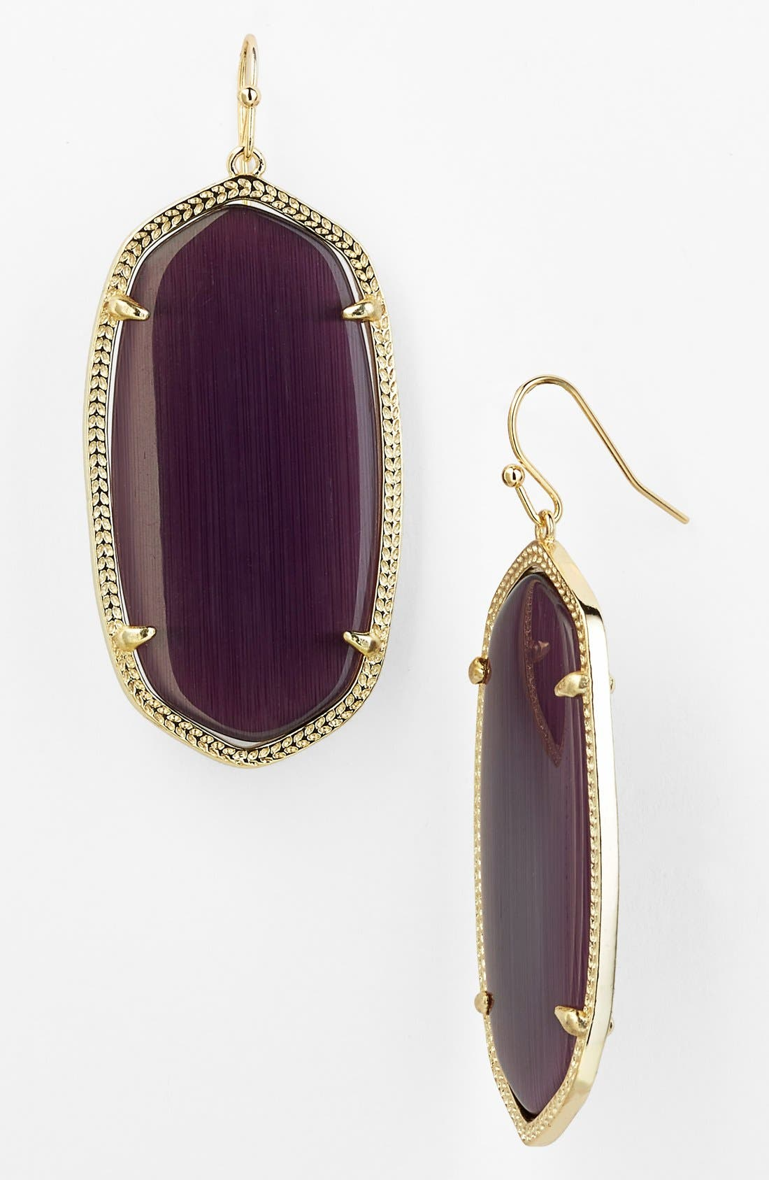 'Danielle' Oval Statement Earrings,                         Main,                         color, Grape Catseye/ Gold
