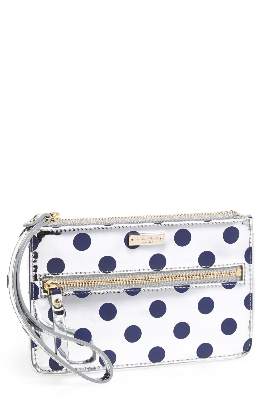 Main Image - kate spade new york 'carlisle street - bee' leather wristlet