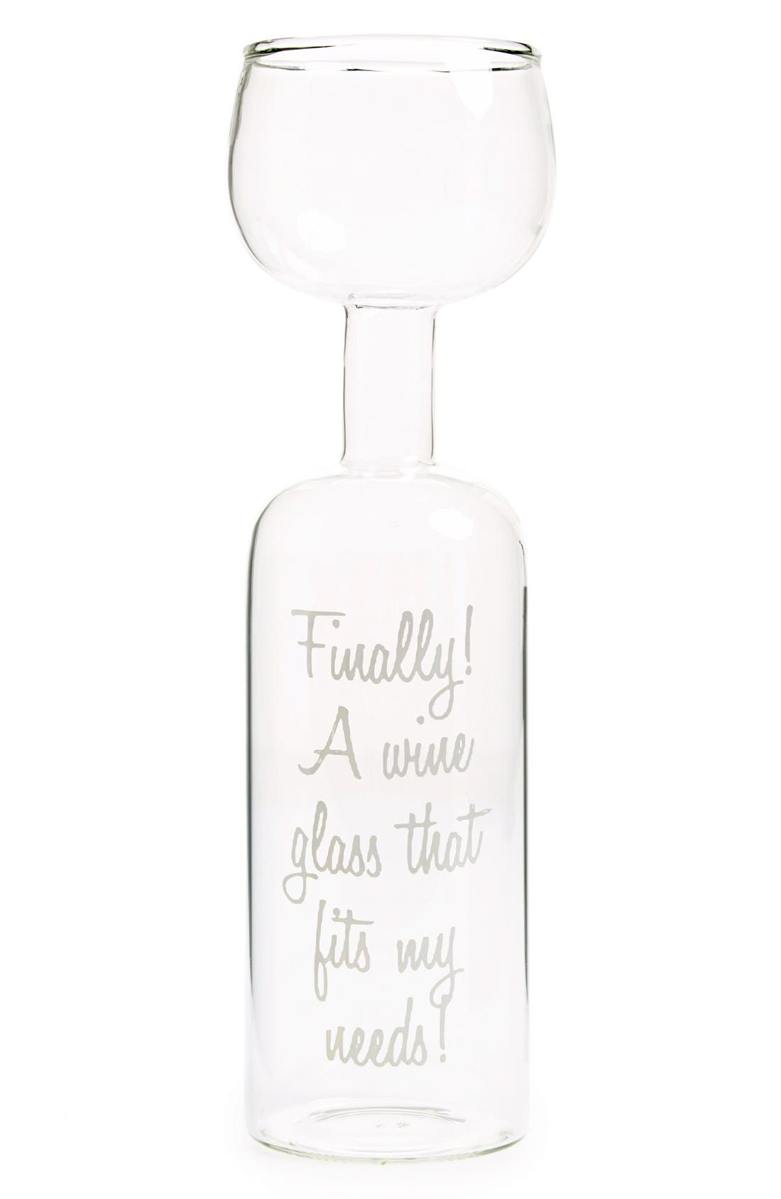 Big Mouth Toys Wine Bottle Glass