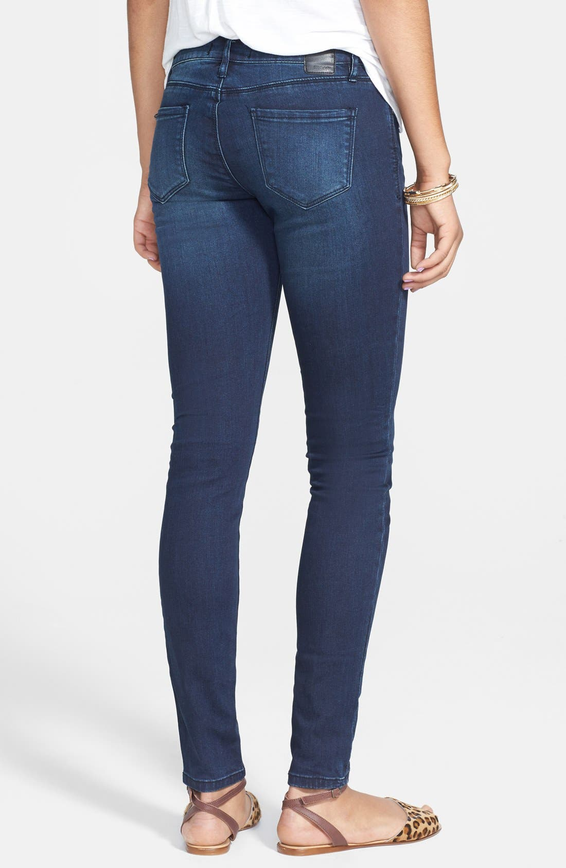 Alternate Image 2  - THIS CITY Skinny Jeans (Dark) (Juniors)