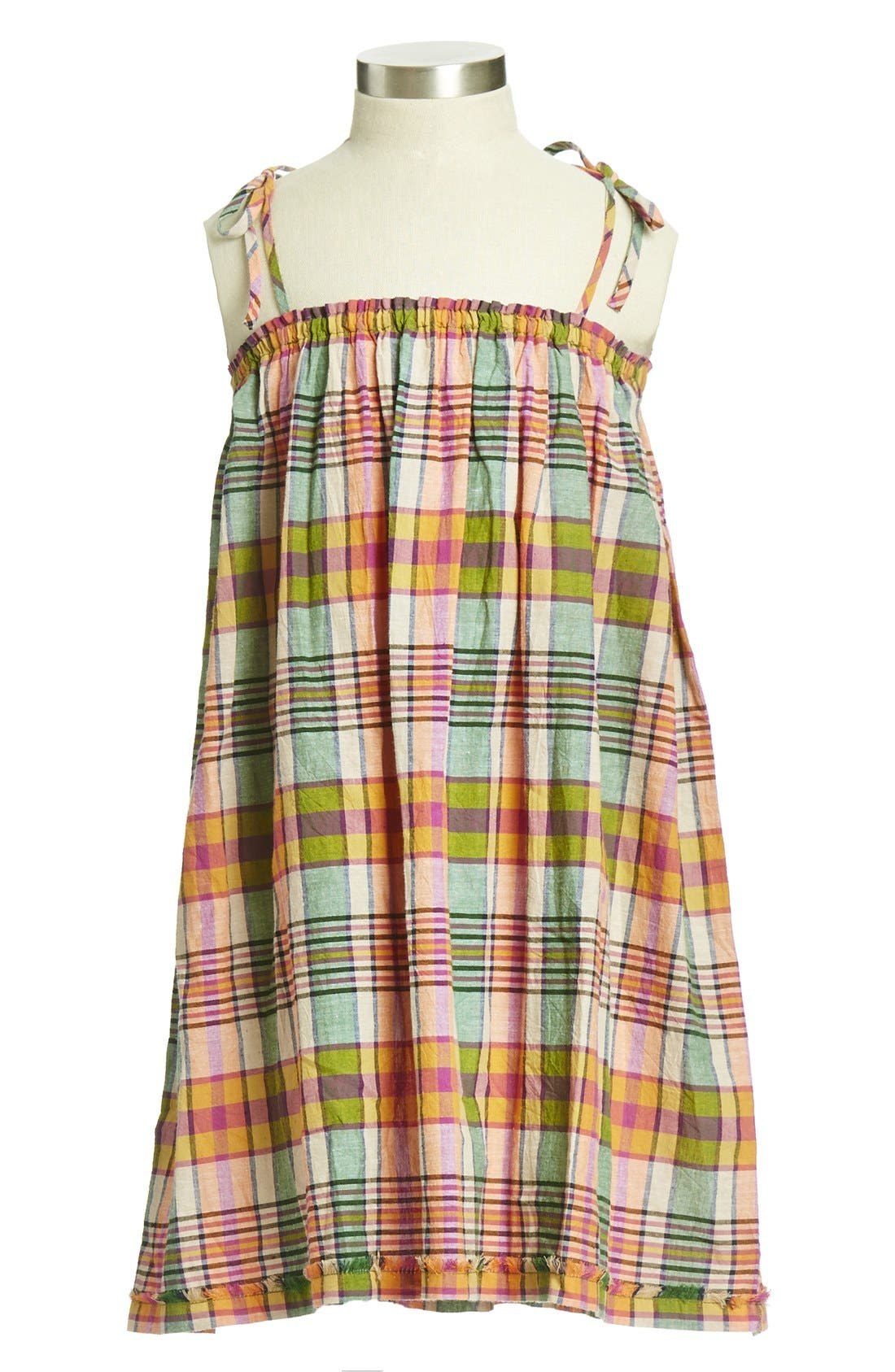Alternate Image 1 Selected - Peek 'Collette' Plaid Cotton Dress (Toddler Girls, Little Girls & Big Girls)
