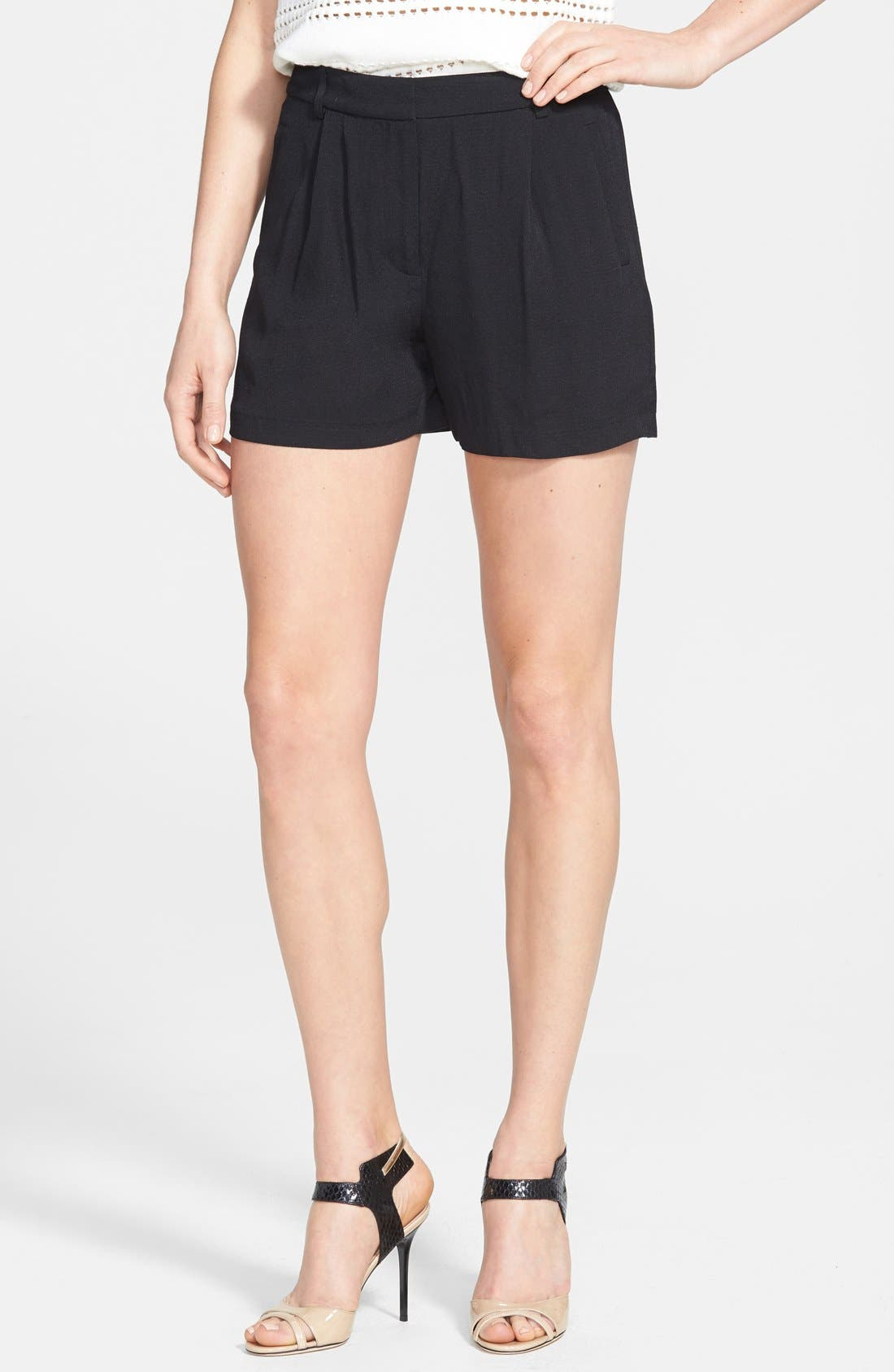 Main Image - Chelsea28 Pleated Crepe Shorts