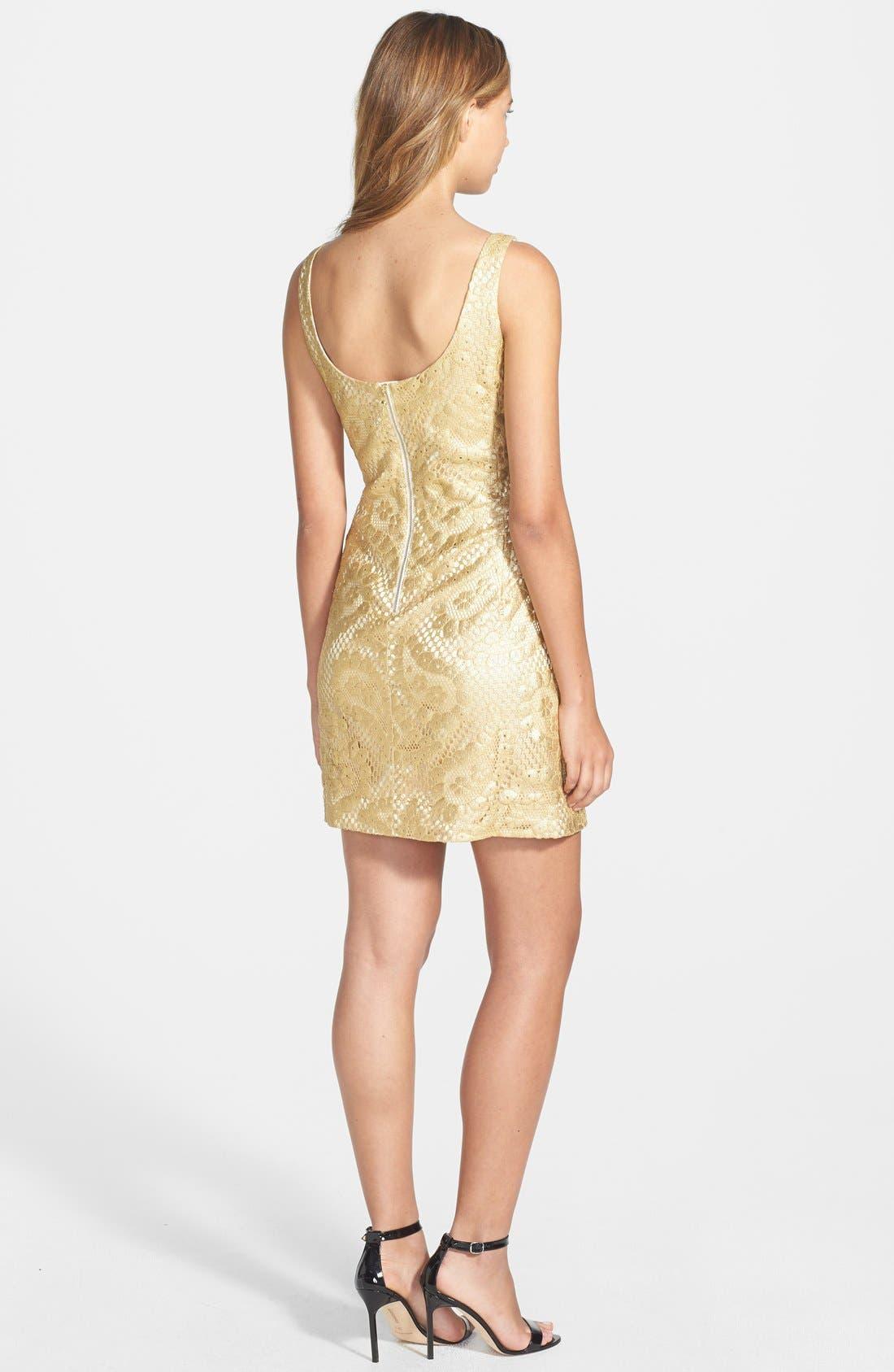 Alternate Image 2  - Lilly Pulitzer® 'Eaton' Metallic Paisley Shift Dress