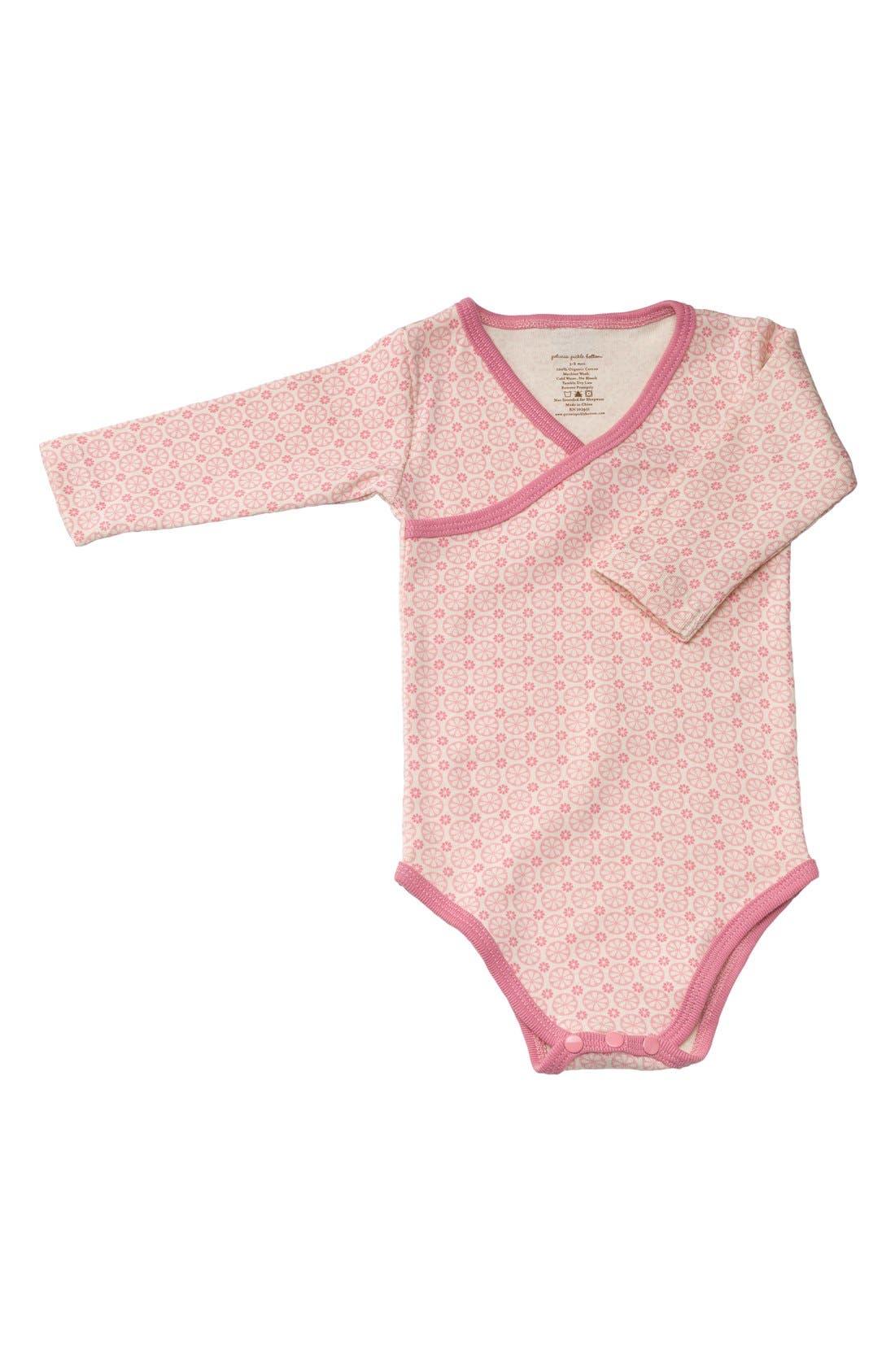 Main Image - Petunia Pickle Bottom Organic Cotton Long Sleeve Bodysuit (Baby Girls)