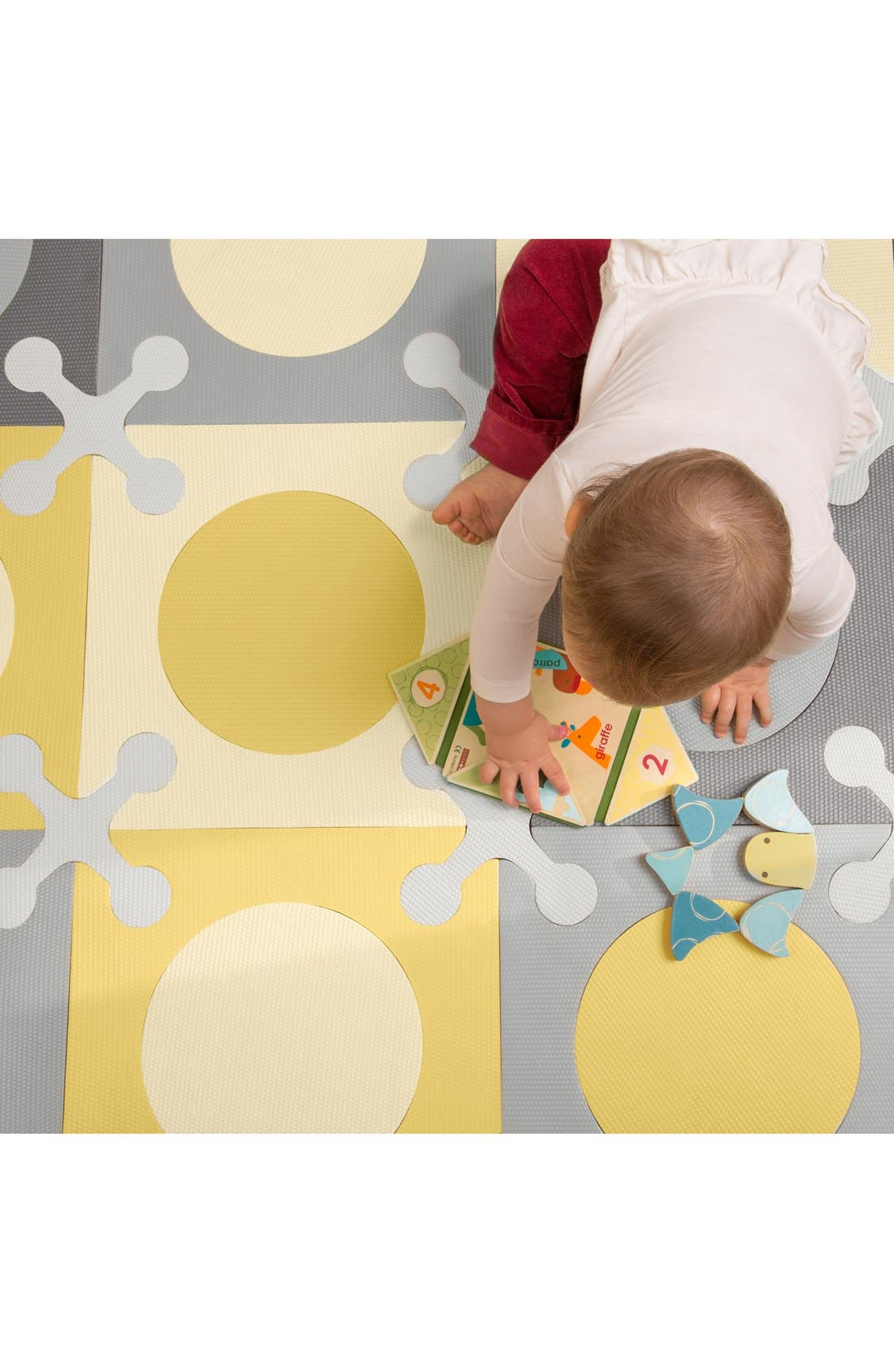 'Playspot' Floor Tiles,                             Alternate thumbnail 5, color,                             Gray/ Gold